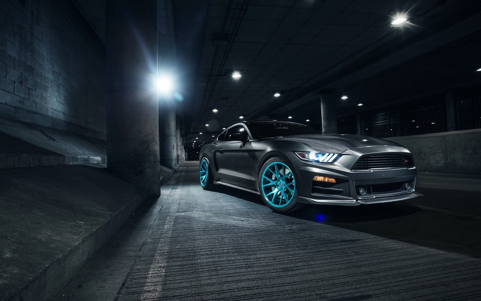 Roush Ford Mustang Vossen Wheels 2 Wallpaper Hd Car