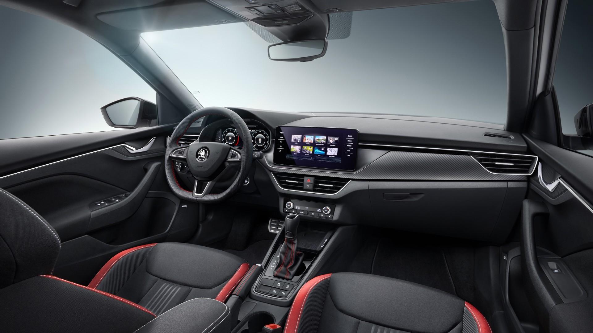 skoda kamiq monte carlo 2019 interior 4k wallpaper hd car wallpapers id 13284