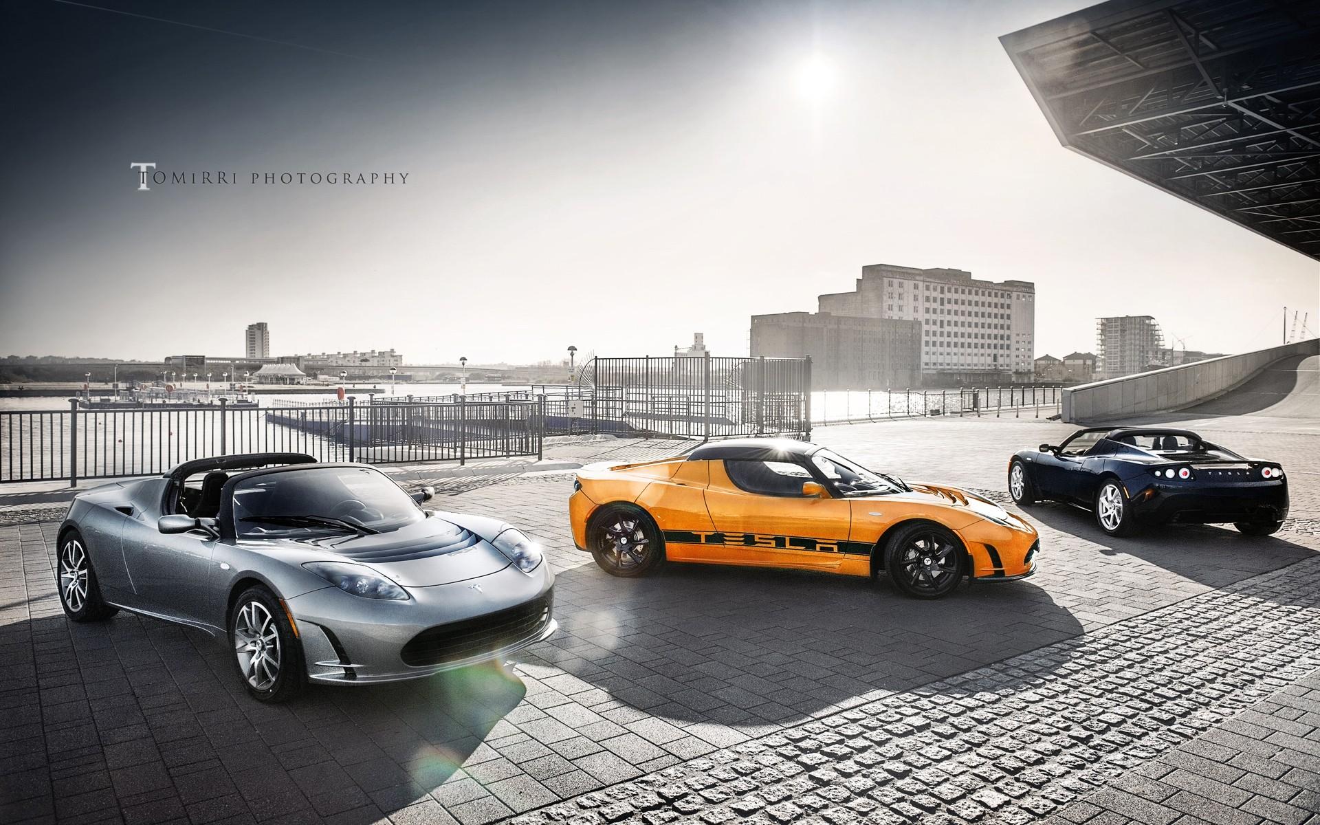 Cars Wallpapers: Tesla Roadster Cars Wallpaper