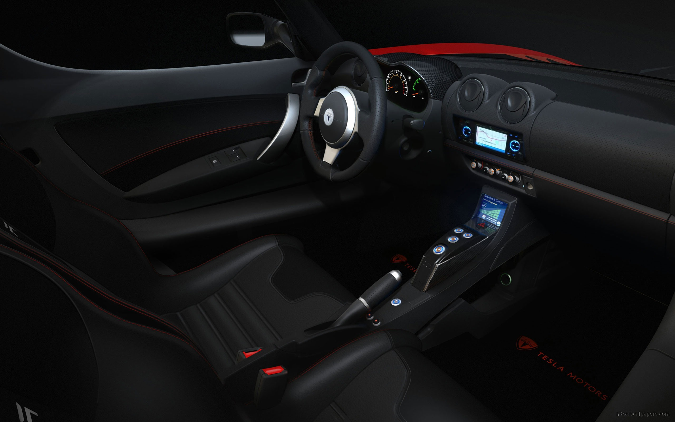 tesla roadster sport interior wallpaper hd car wallpapers id 1270. Black Bedroom Furniture Sets. Home Design Ideas