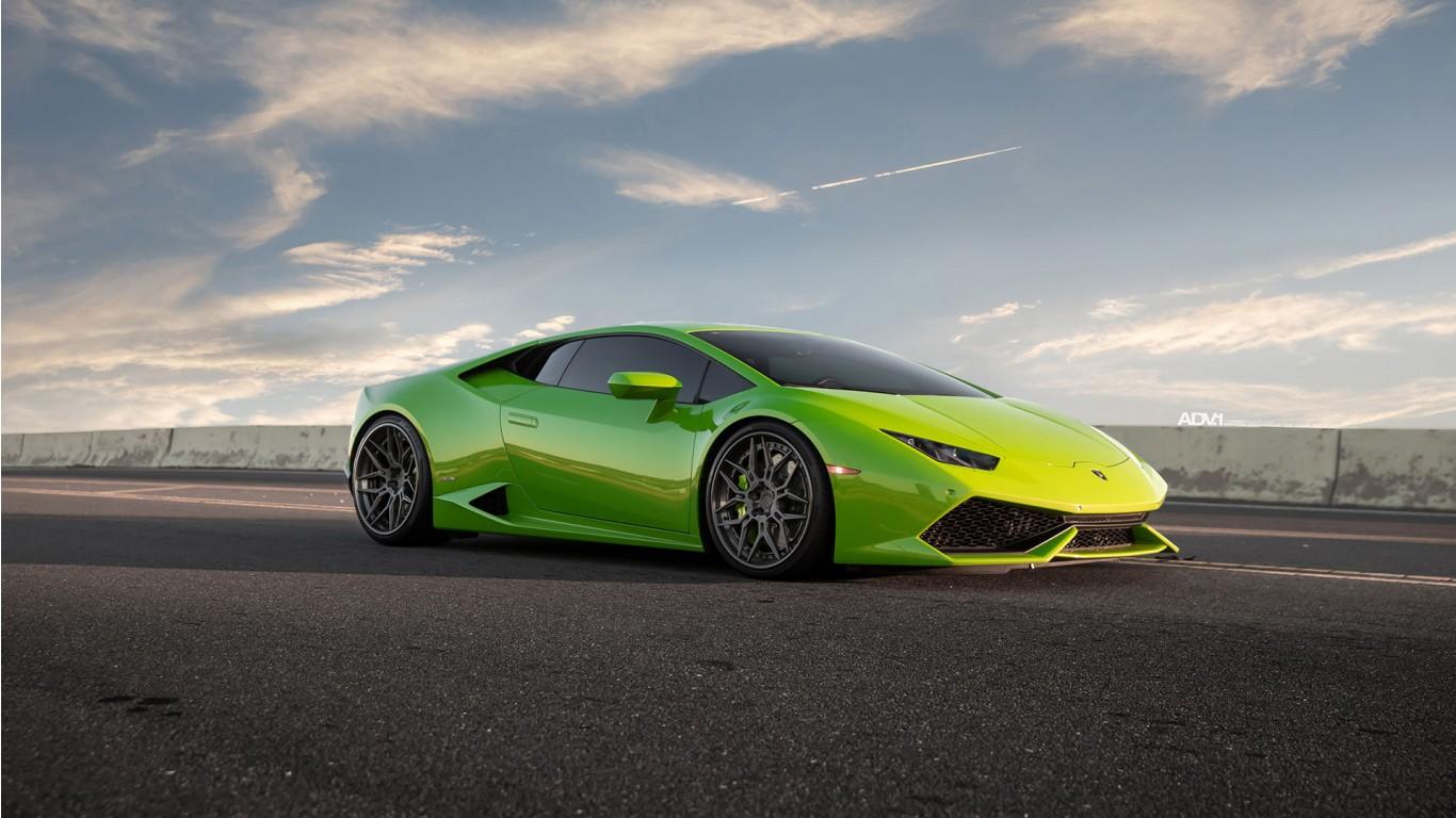 Verde Mantis Green Lamborghini Huracan Lp610 4 Wallpaper