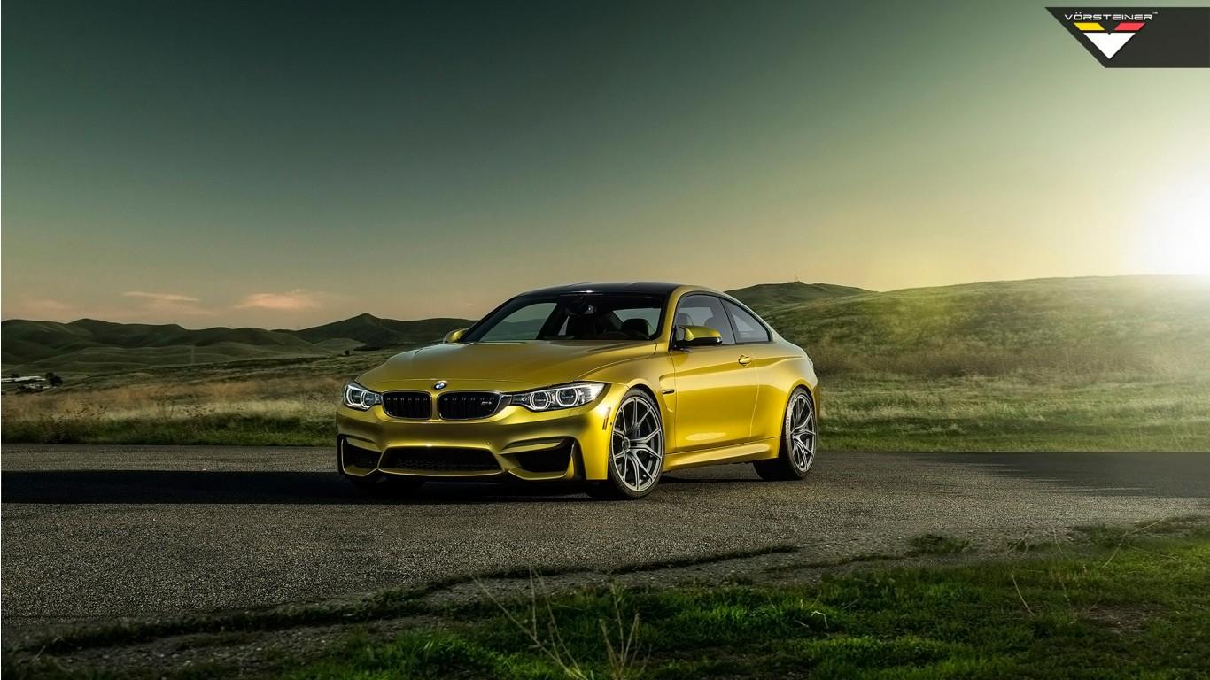 Lexus Electric Car >> Vorsteiner BMW M4 Austin Yellow 2014 Wallpaper | HD Car Wallpapers | ID #4658