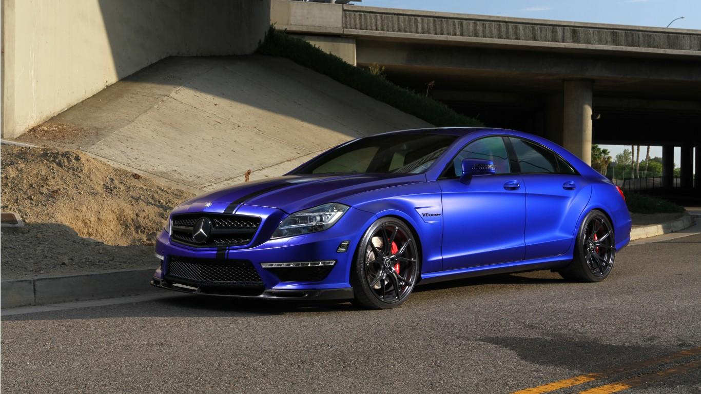 Vorsteiner Mercedes Benz Cls Mystic Black Wallpaper Hd