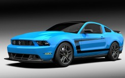 Blue 2012 Ford Mustang Boss