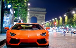 Lamborghini Aventador at Night