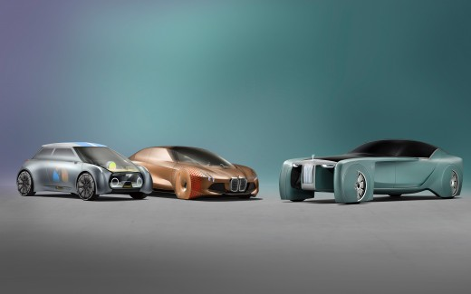 BMW MINI Rolls Royce Vision Next 100 4K