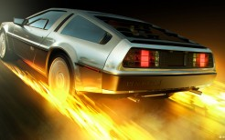 Back to the Future DeLorean 4K