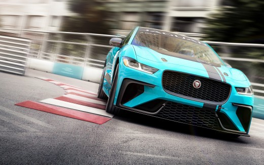 Jaguar I PACE eTROPHY Electric Race Car 4K 2