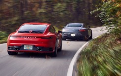 2020 Mercedes-AMG GT and 2020 Porsche 911 Carrera S 5K 2