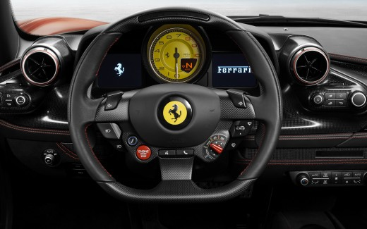 Ferrari F8 Tributo 2019 Interior 4K