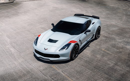 Arctic White Chevrolet Corvette GS  4K 8K 2