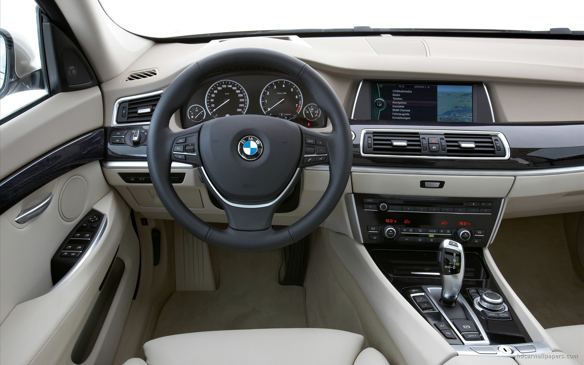 2010 BMW 5 Series Gran Turismo Interior Wallpaper | HD Car Wallpapers
