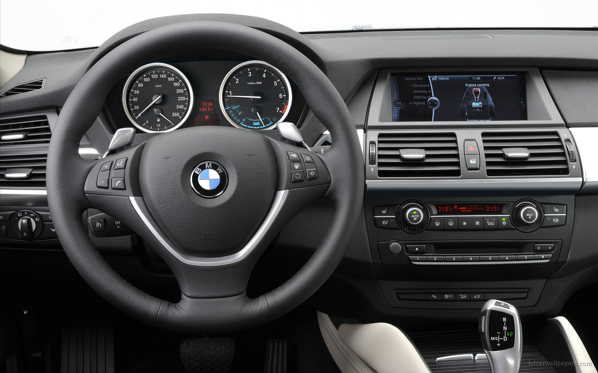 2010 Bmw X6 Activehybrid Interior Wallpaper Hd Car