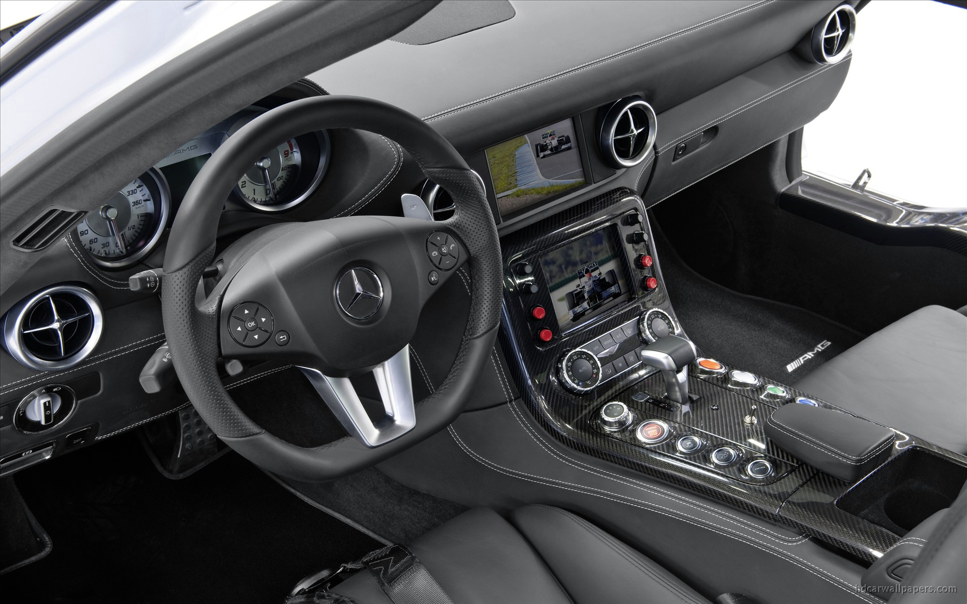 2010 mercedes benz sls amg f1 safety car interior wallpaper hd car wallpapers id 1207. Black Bedroom Furniture Sets. Home Design Ideas