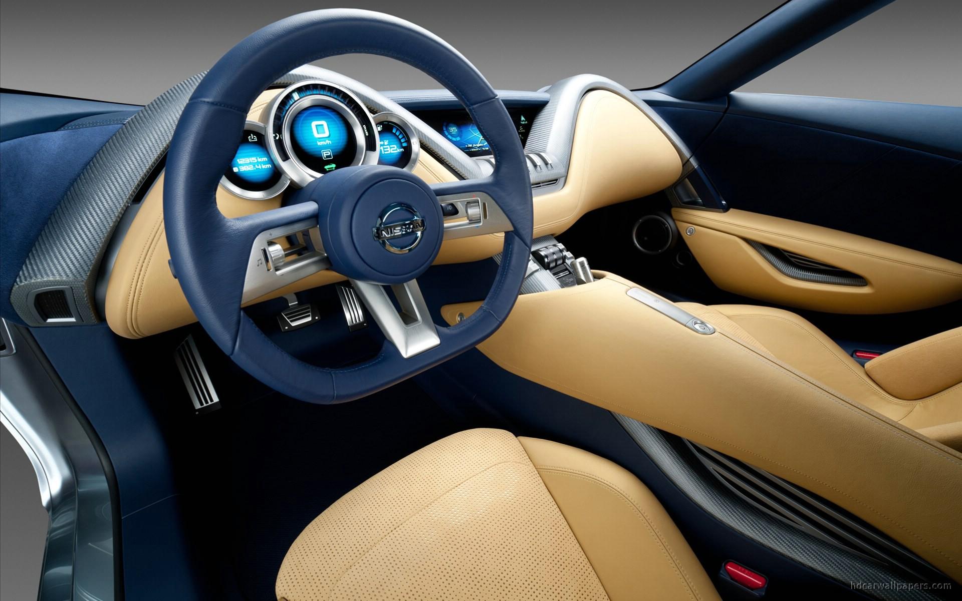 2011 Nissan Electric Sports Concept Car Interior Wallpaper