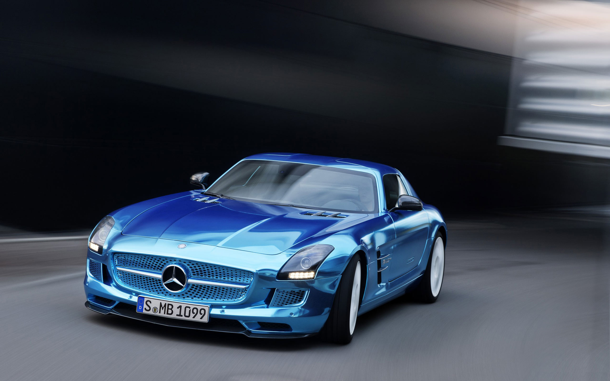 2014 mercedes benz sls amg coupe electric wallpaper hd