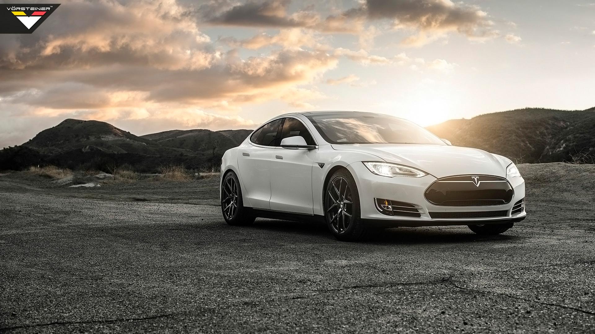 2014 Vorsteiner Tesla Model S P85 Wallpaper Hd Car