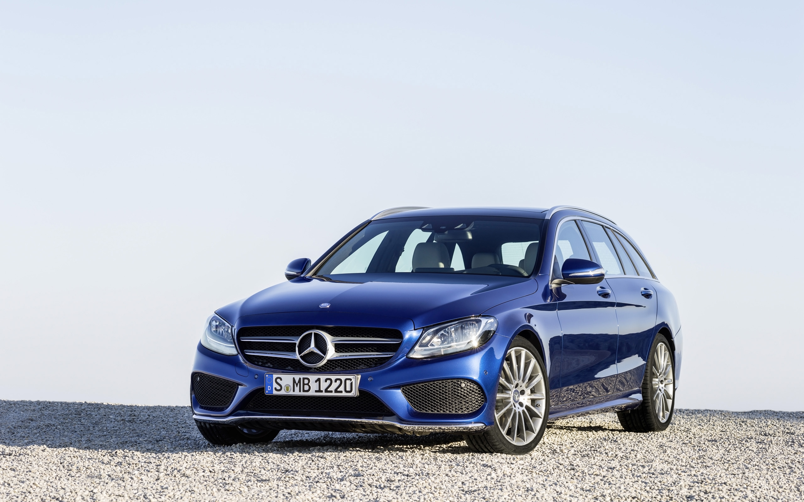 2015 mercedes benz c class estate blue wallpaper | hd car wallpapers