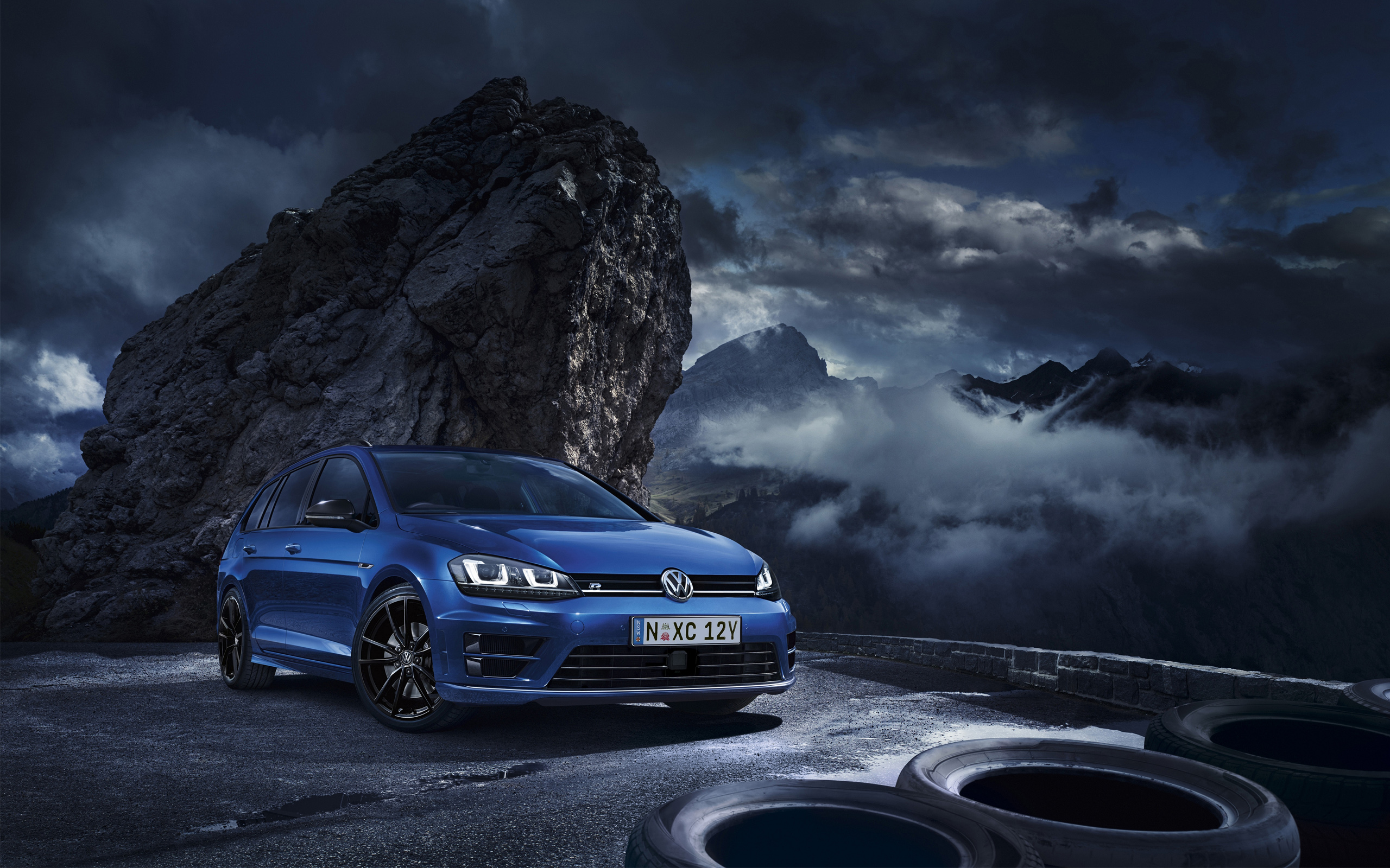 2015 volkswagen golf r wagon wallpaper | hd car wallpapers | id #5481