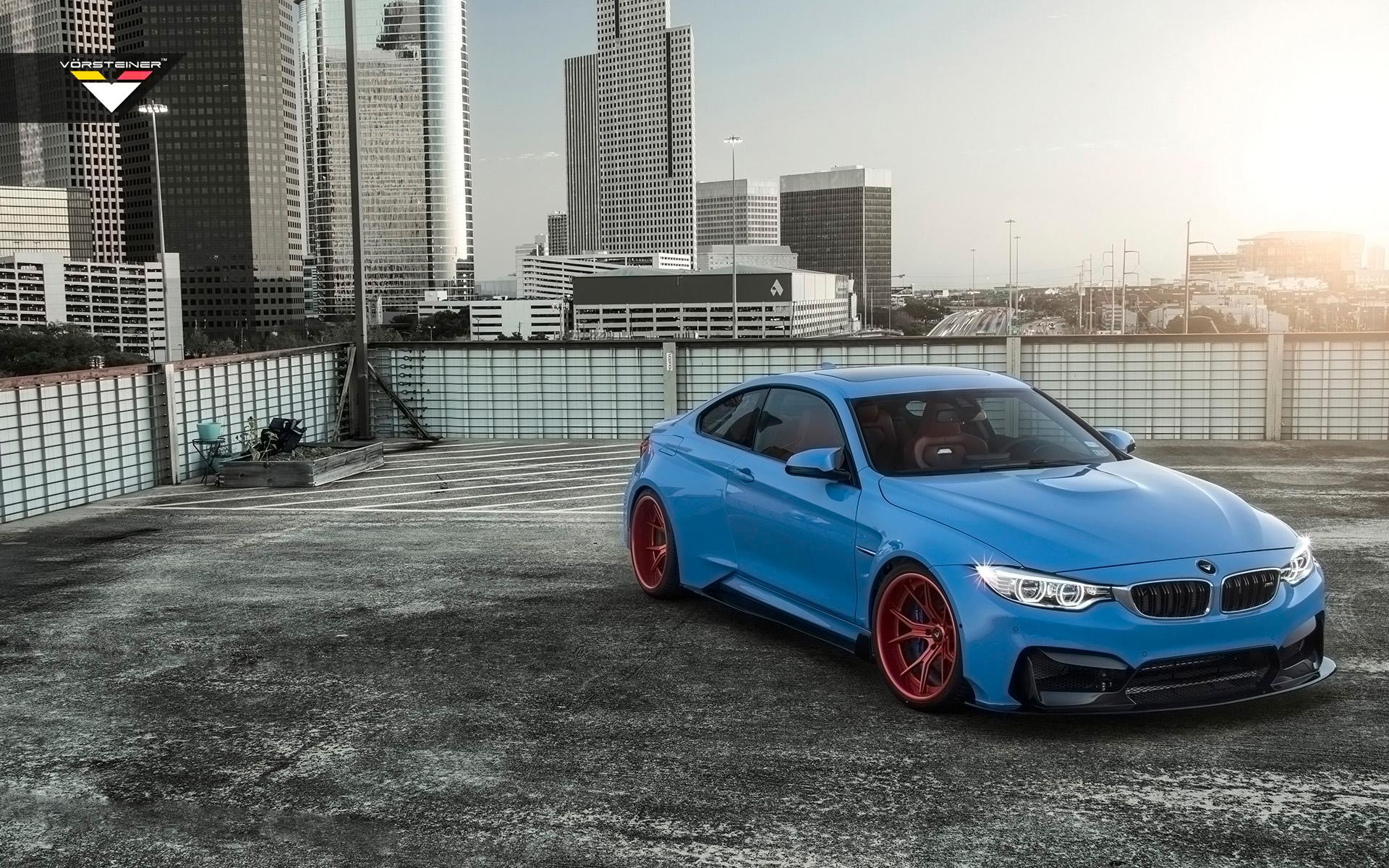 2015 Vorsteiner Bmw M4 Gtrs4 Yas Marina Blue Wallpaper Hd Car