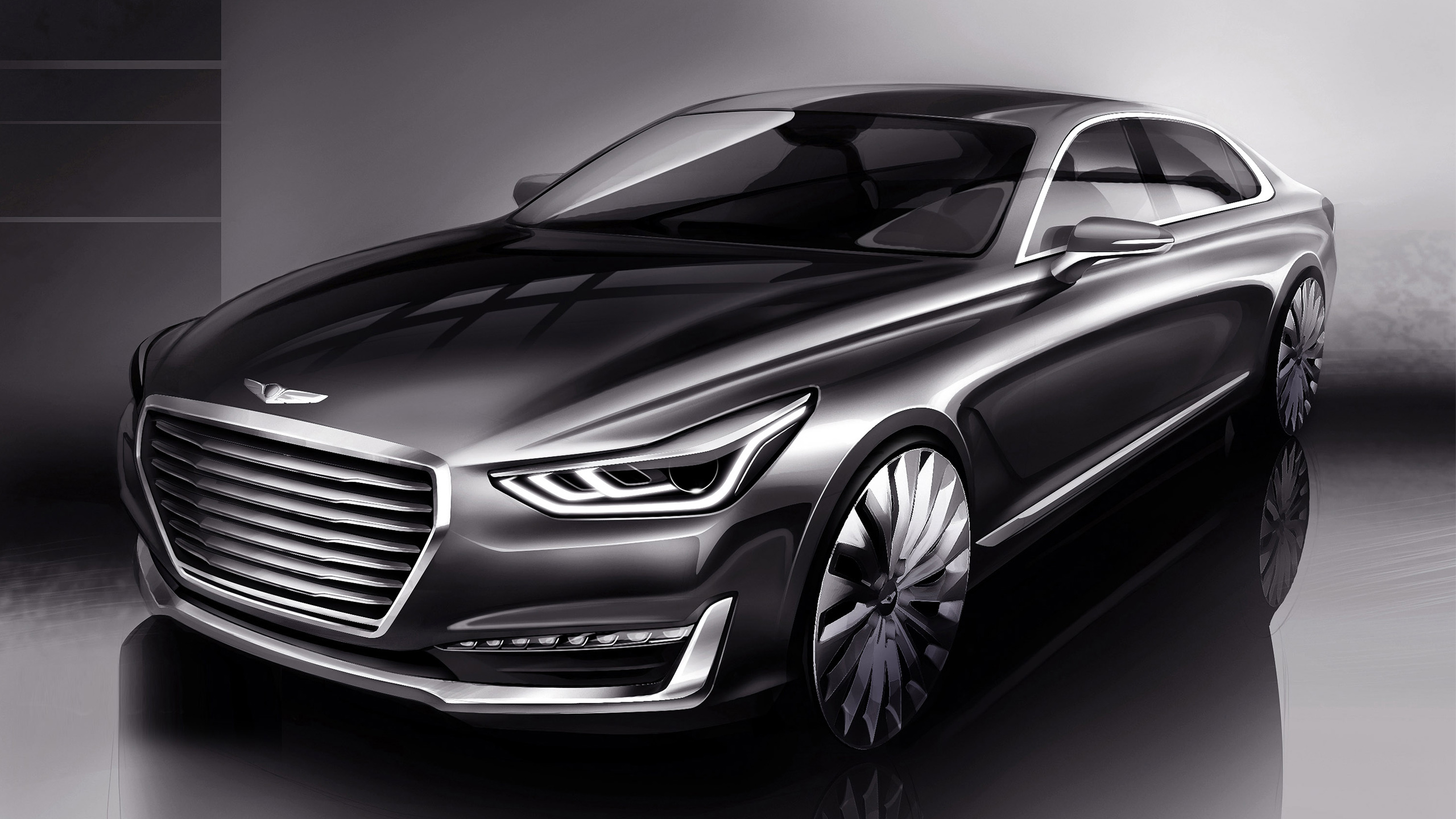 2016 Hyundai Genesis G90 Wallpaper Hd Car Wallpapers Id 5944