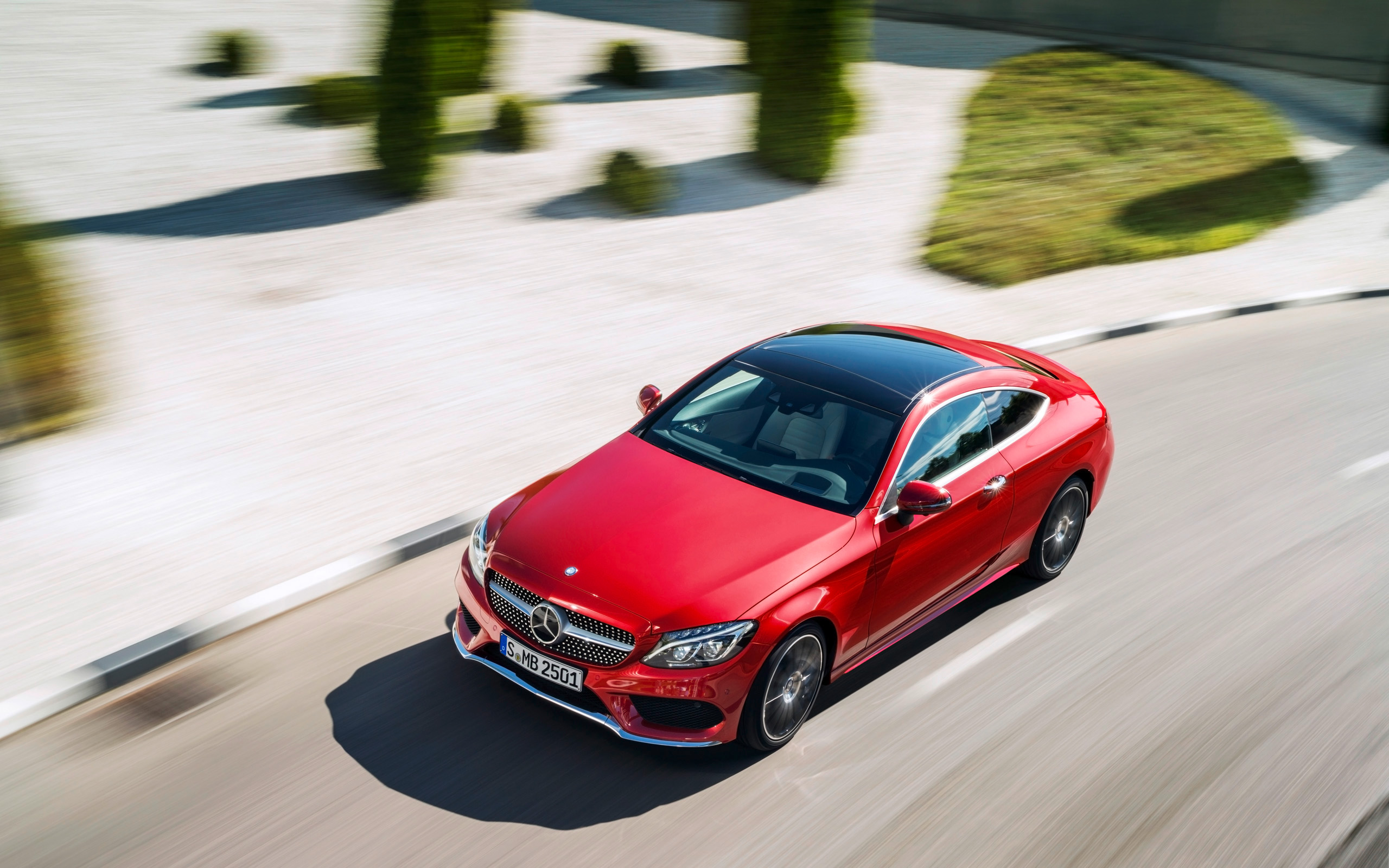 2016 Mercedes Benz C Class Coupe Red Wallpaper