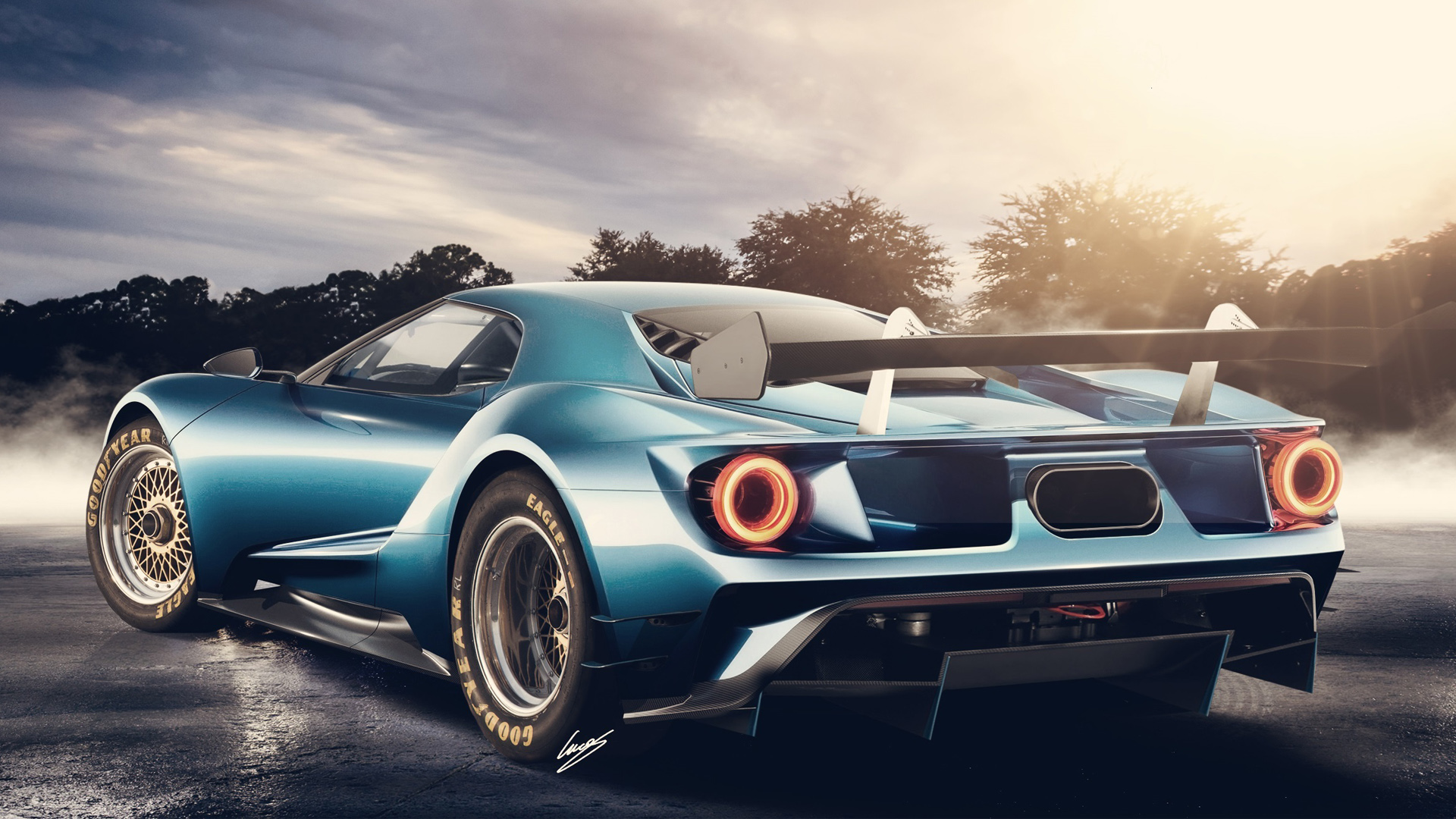 High Quality 2017 Ford GT Concept Wallpaper