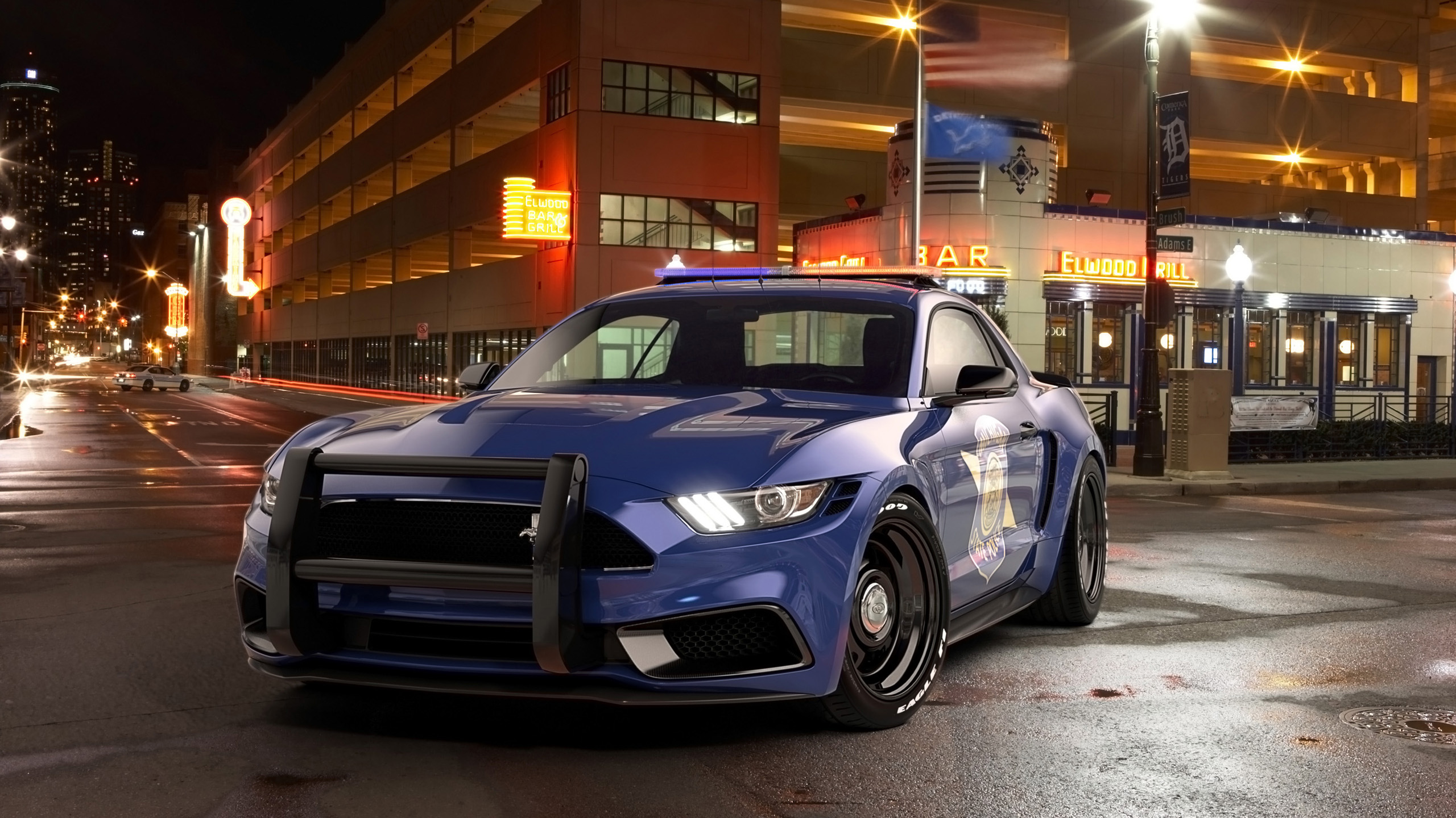 2017 Ford Mustang NotchBack Design Police Wallpaper