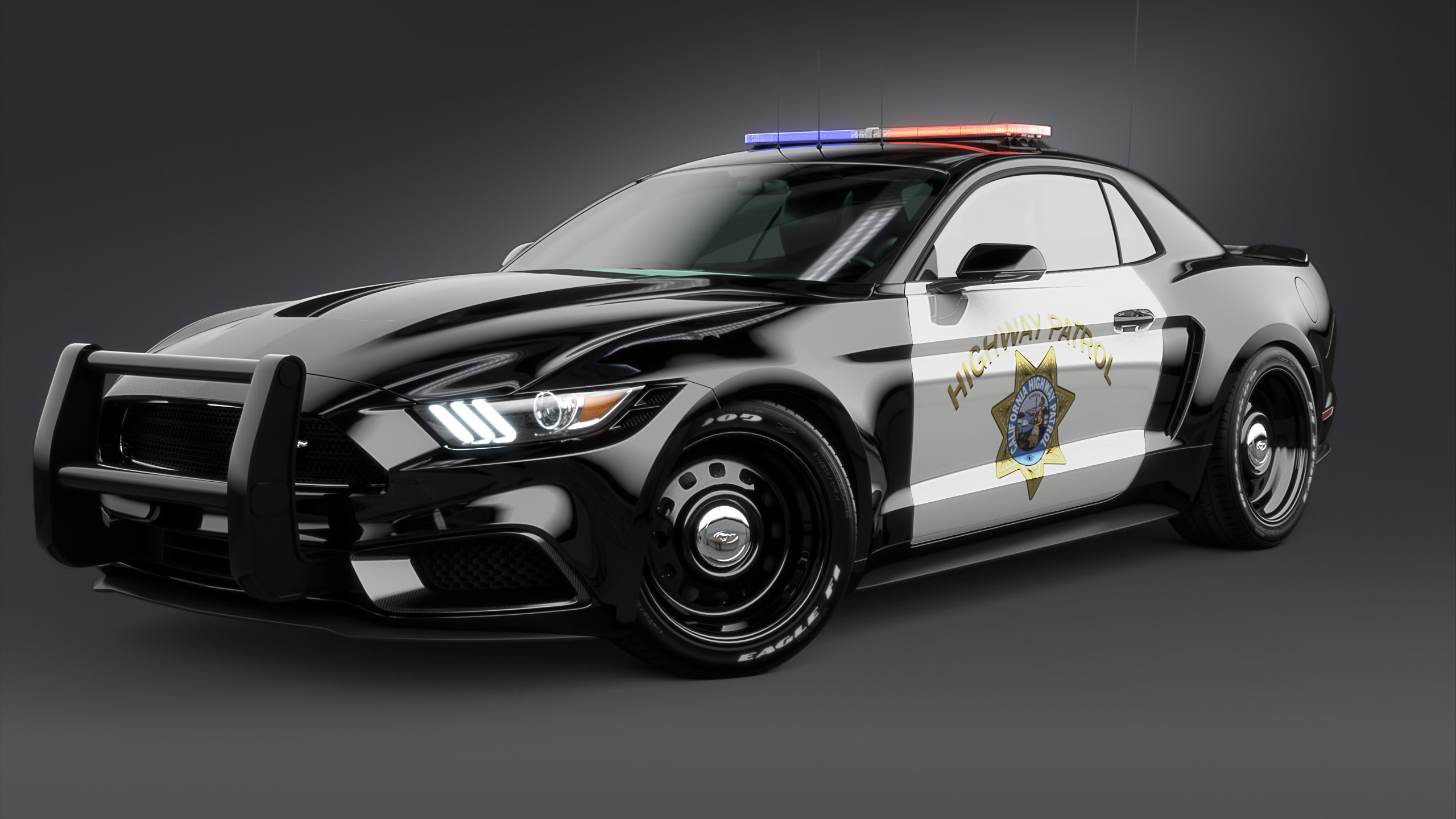 2017 Ford Mustang NotchBack Design Police 2