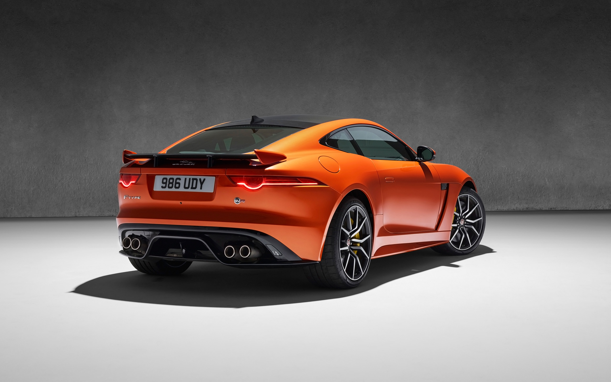 2017 Jaguar F Type Svr Coupe Rear Wallpaper Hd Car Wallpapers Id