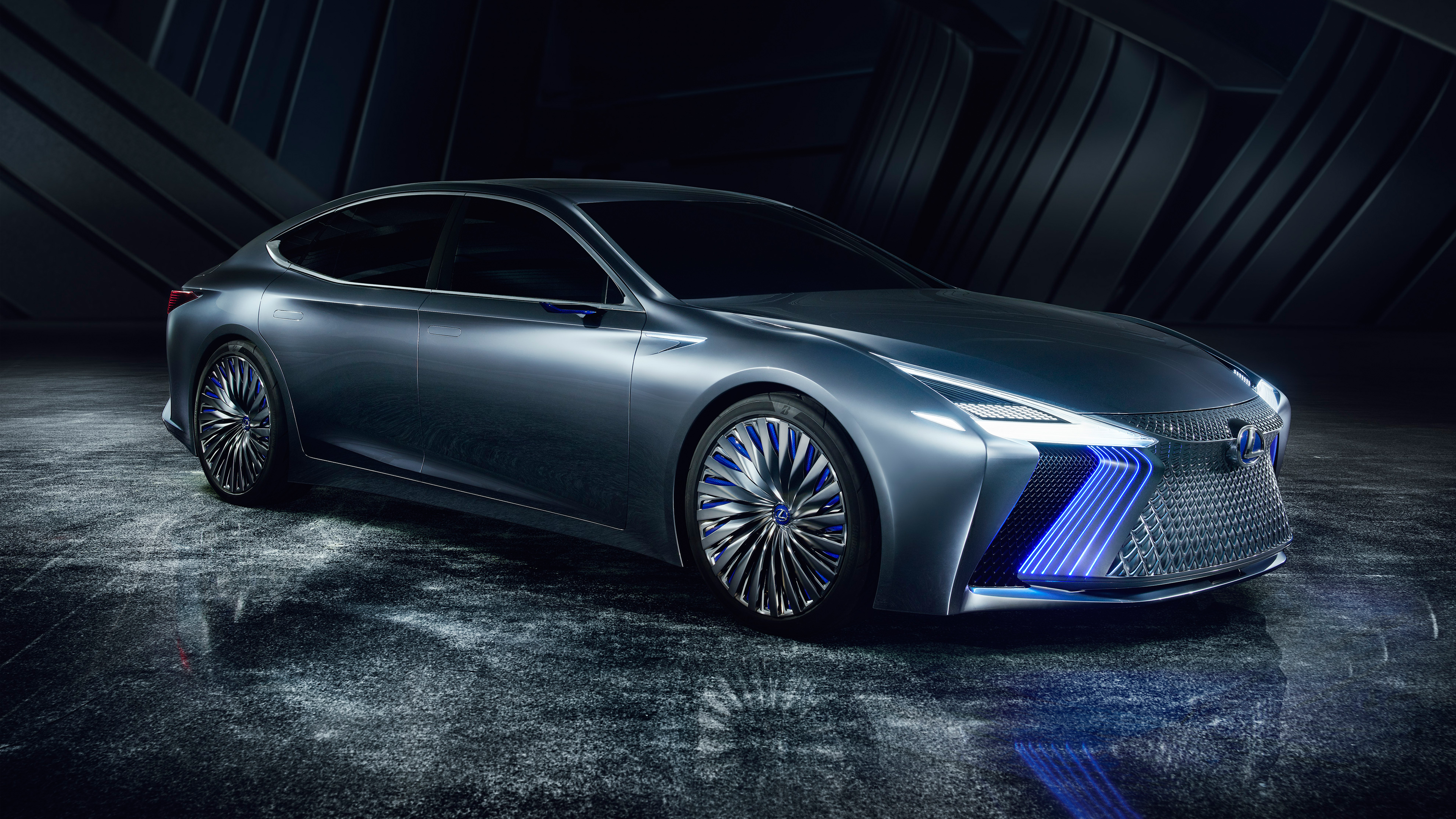 2017 lexus ls plus concept 4k 2 wallpaper