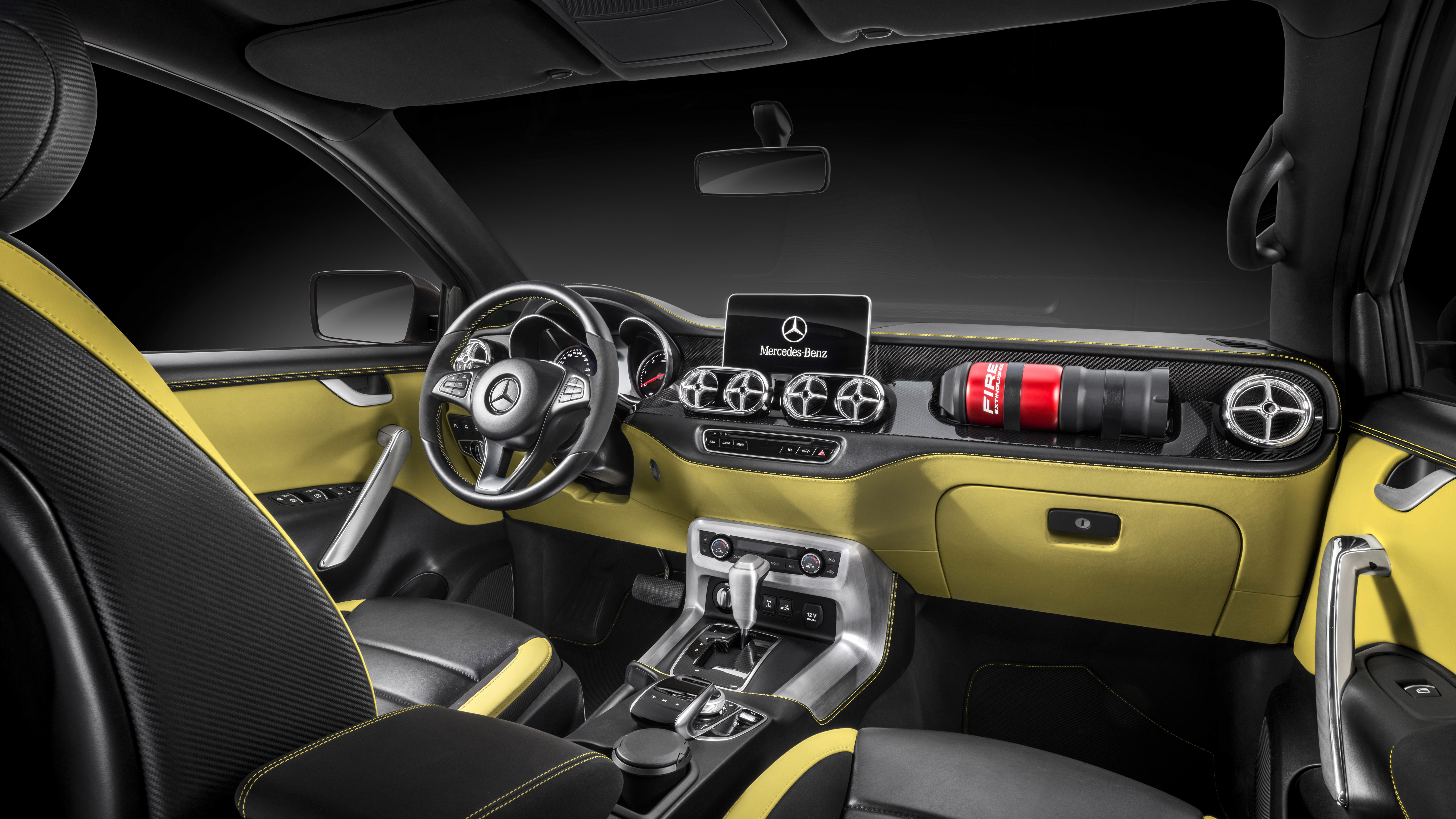 2017 mercedes benz concept x class pickup interior HD