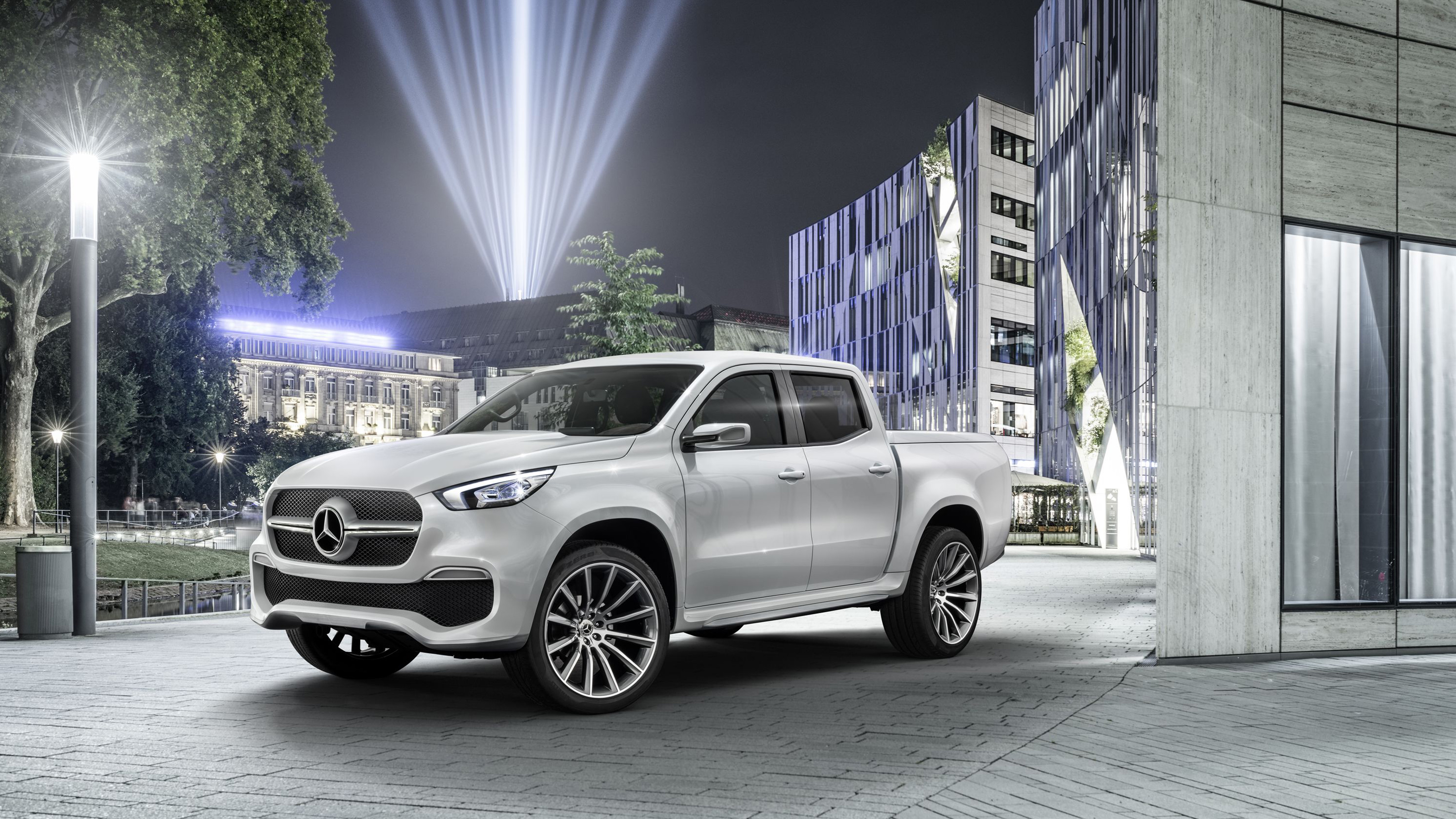 2017 mercedes benz x class pickup truck wallpaper hd car for Mercedes benz trucks
