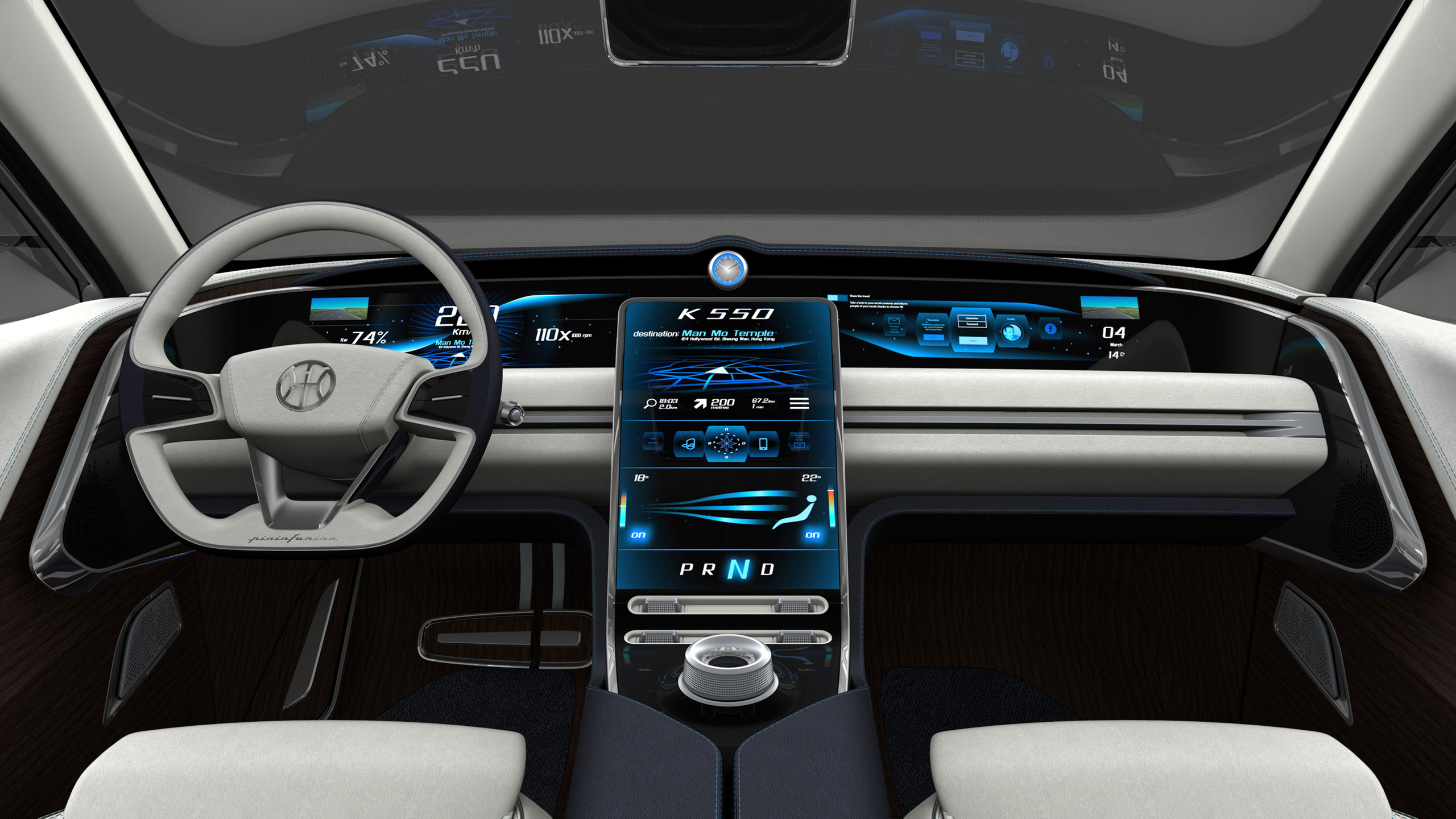 2017 Pininfarina Hybrid Kinetic K550 Interior Wallpaper ...