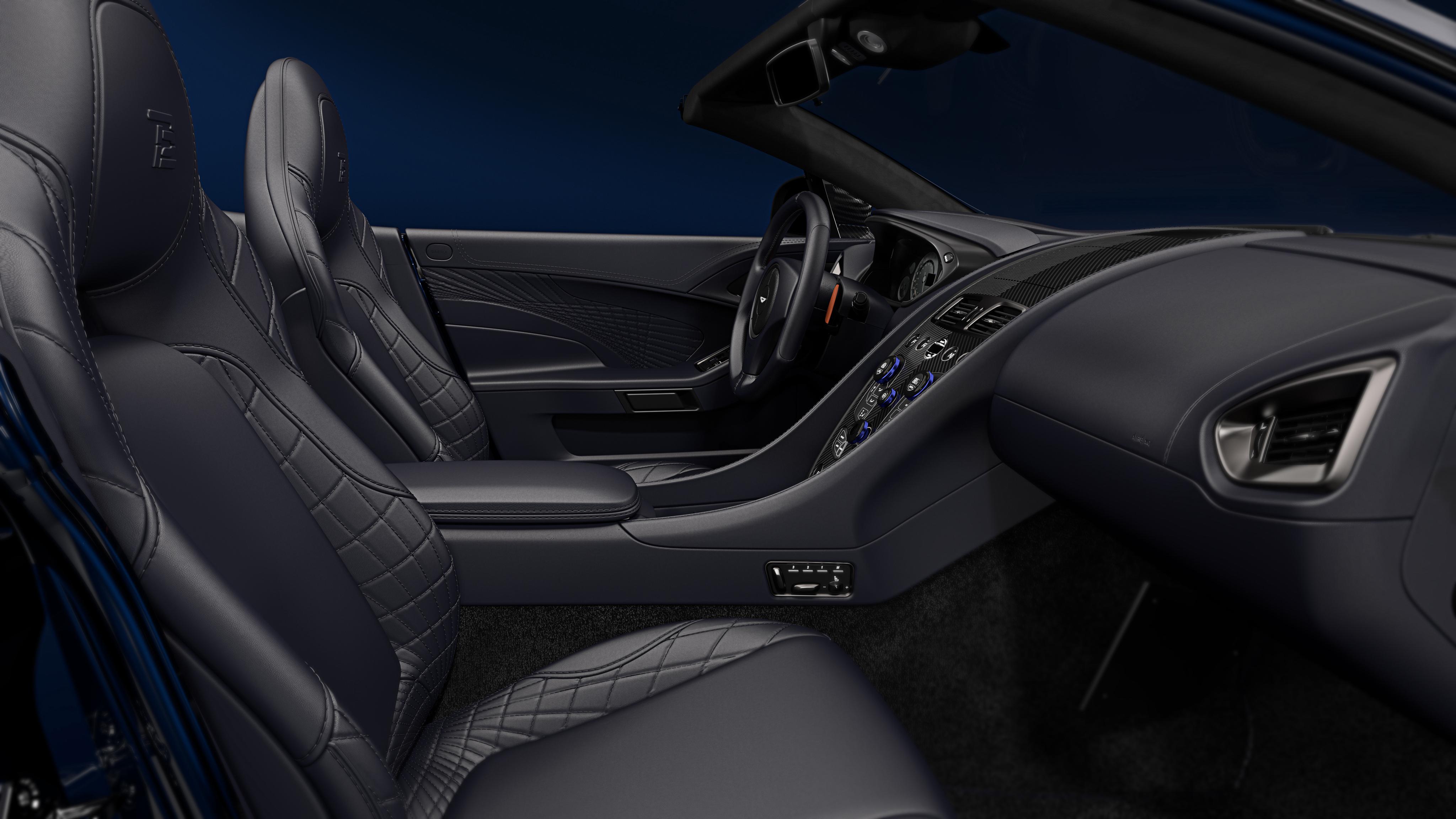 2018 aston martin vanquish s volante tom brady signature edition interior 4k wallpaper hd car. Black Bedroom Furniture Sets. Home Design Ideas