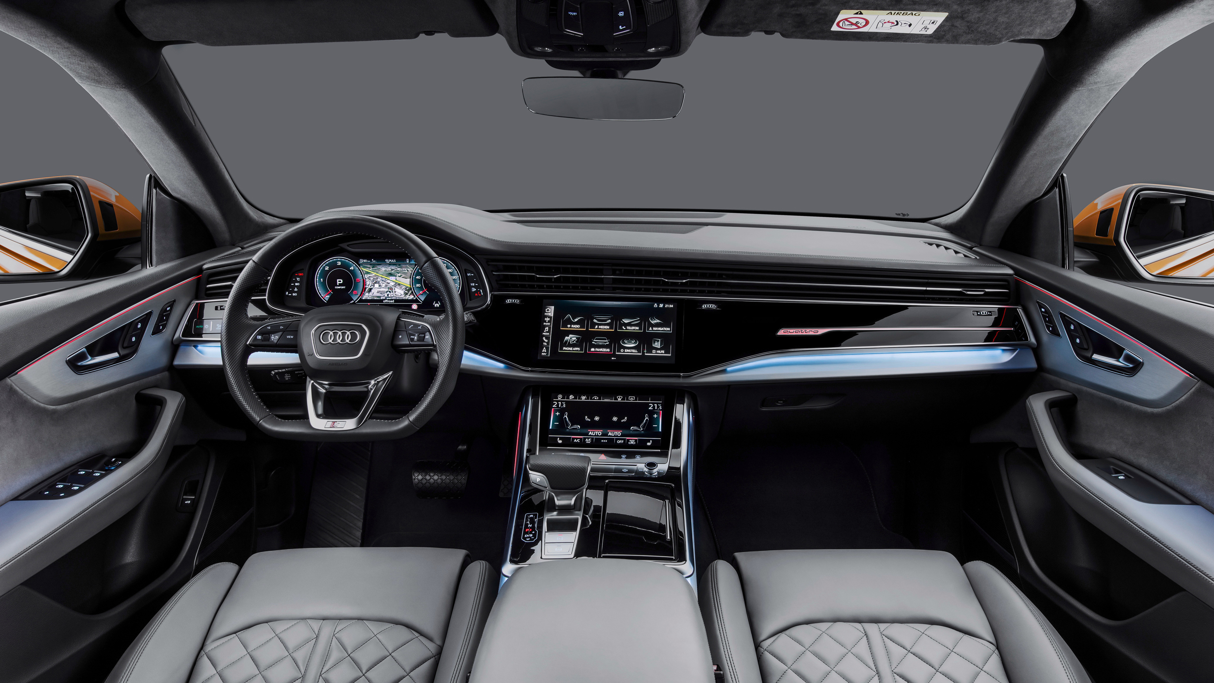 2018 Audi S5 >> 2018 Audi Q8 50 TDI quattro S line 4K Interior Wallpaper ...