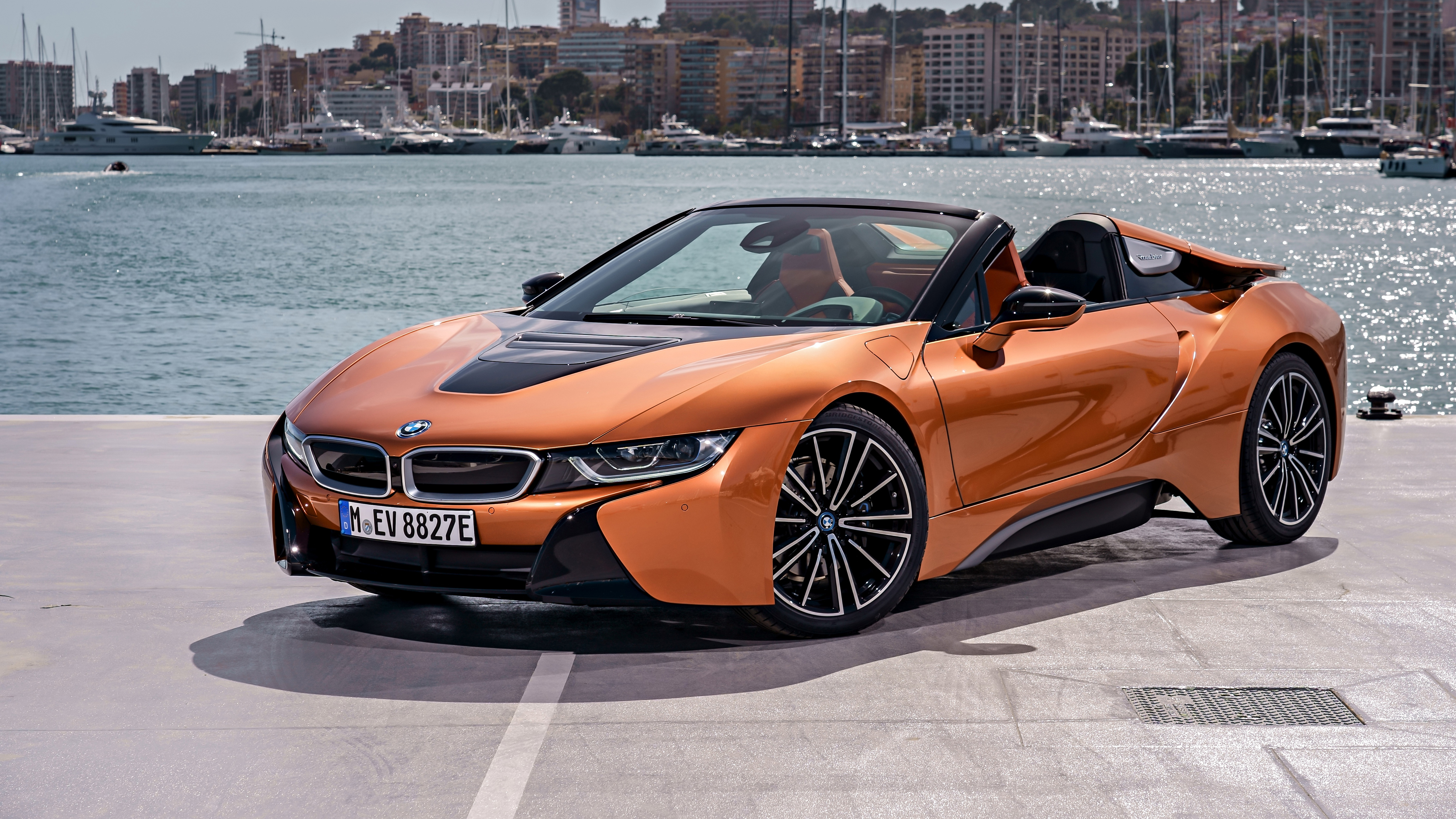 2018 bmw i8 roadster 4k 2 wallpaper hd car wallpapers id 10260. Black Bedroom Furniture Sets. Home Design Ideas