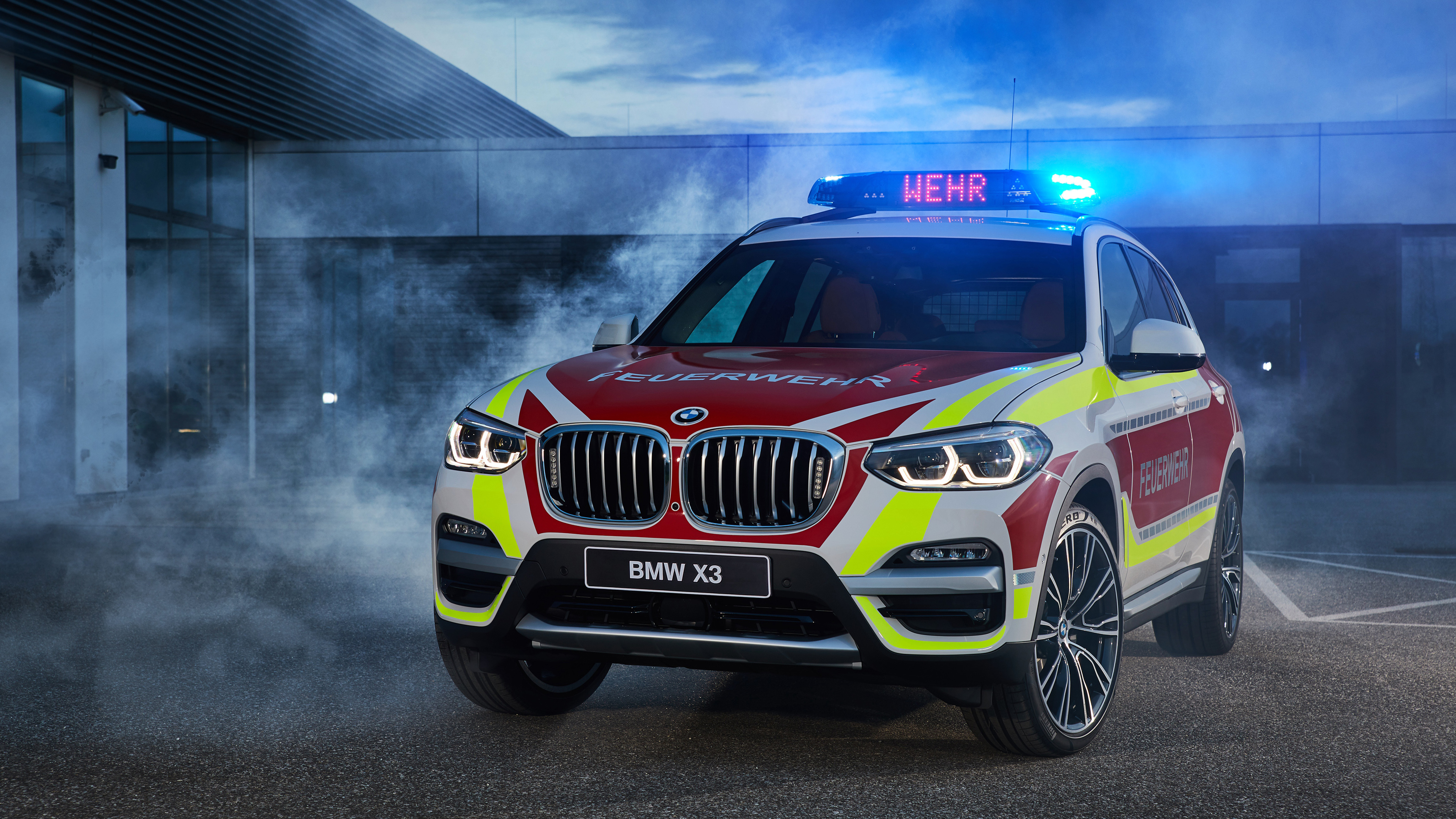 2018 Bmw X3 Xdrive20d Feuerwehr 4k Wallpaper Hd Car