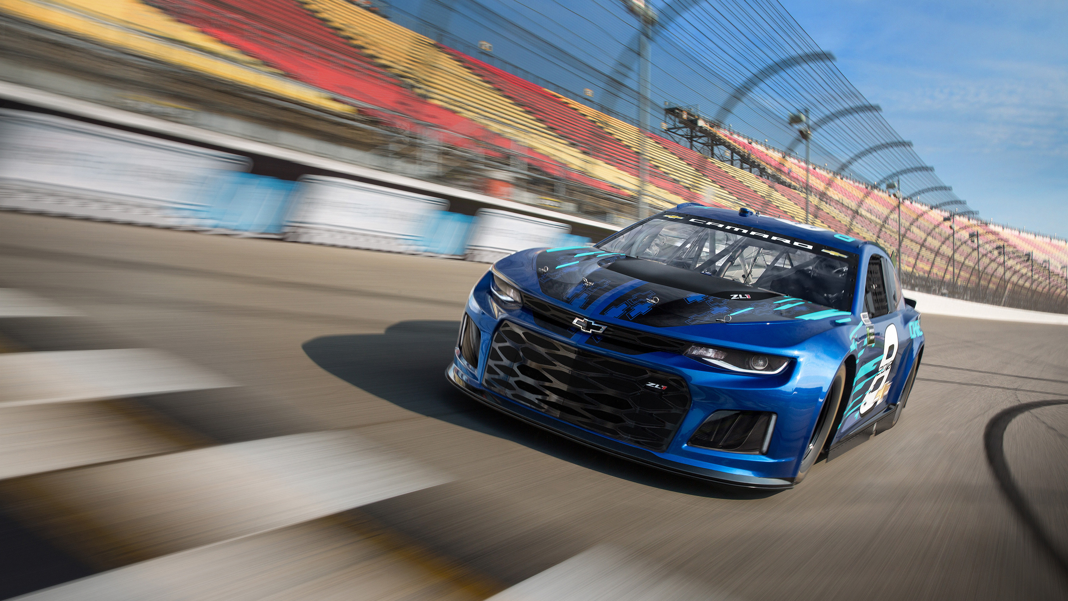 2018 Chevrolet Camaro Zl1 Nascar Race Car Wallpaper Hd