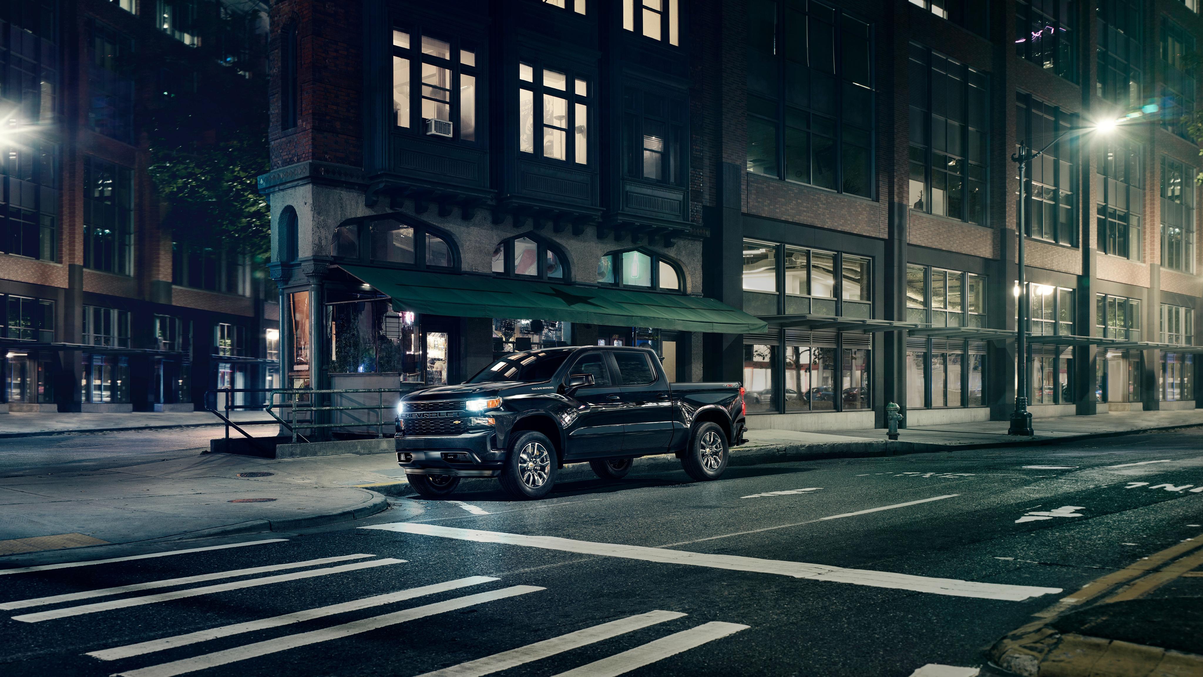 2018 Chevrolet Silverado Custom Crew Cab 4K Wallpaper | HD ...