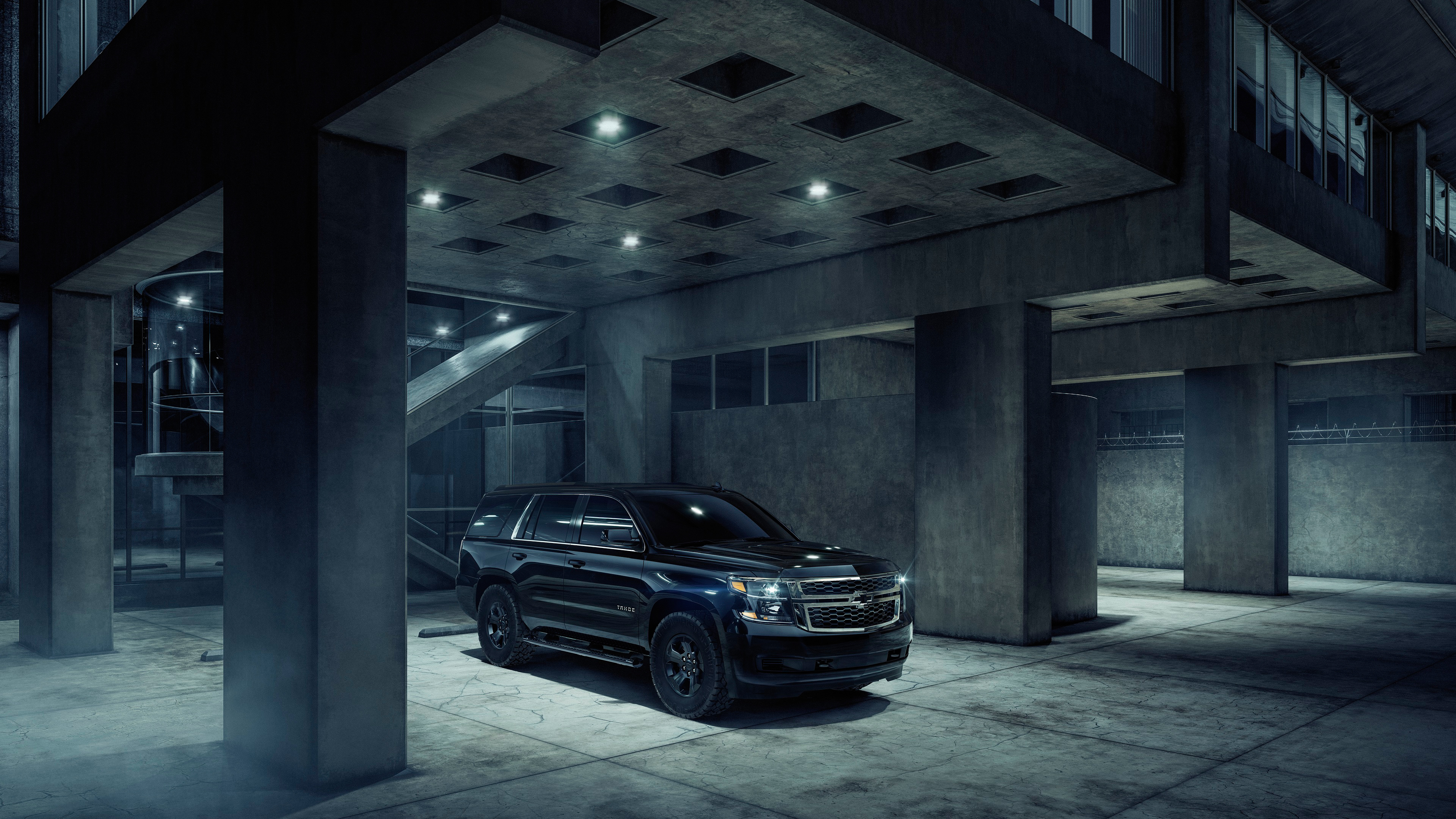 2018 Chevrolet Tahoe Custom Midnight 4k Wallpaper Hd Car