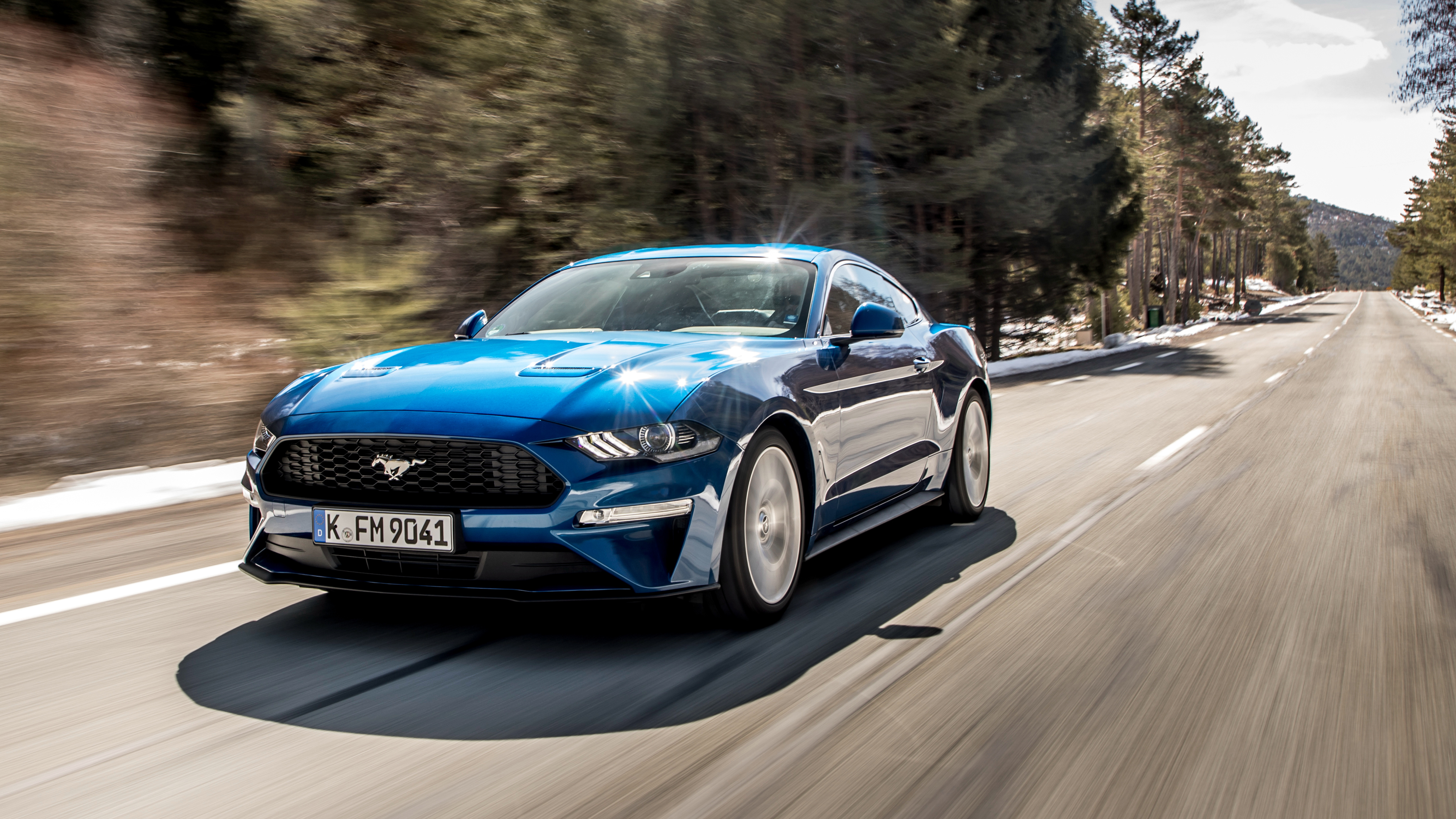 Wallpaper Ford Mustang 2018 Hd Automotive Cars 5863: 2018 Ford Mustang Ecoboost Fastback 4K Wallpaper