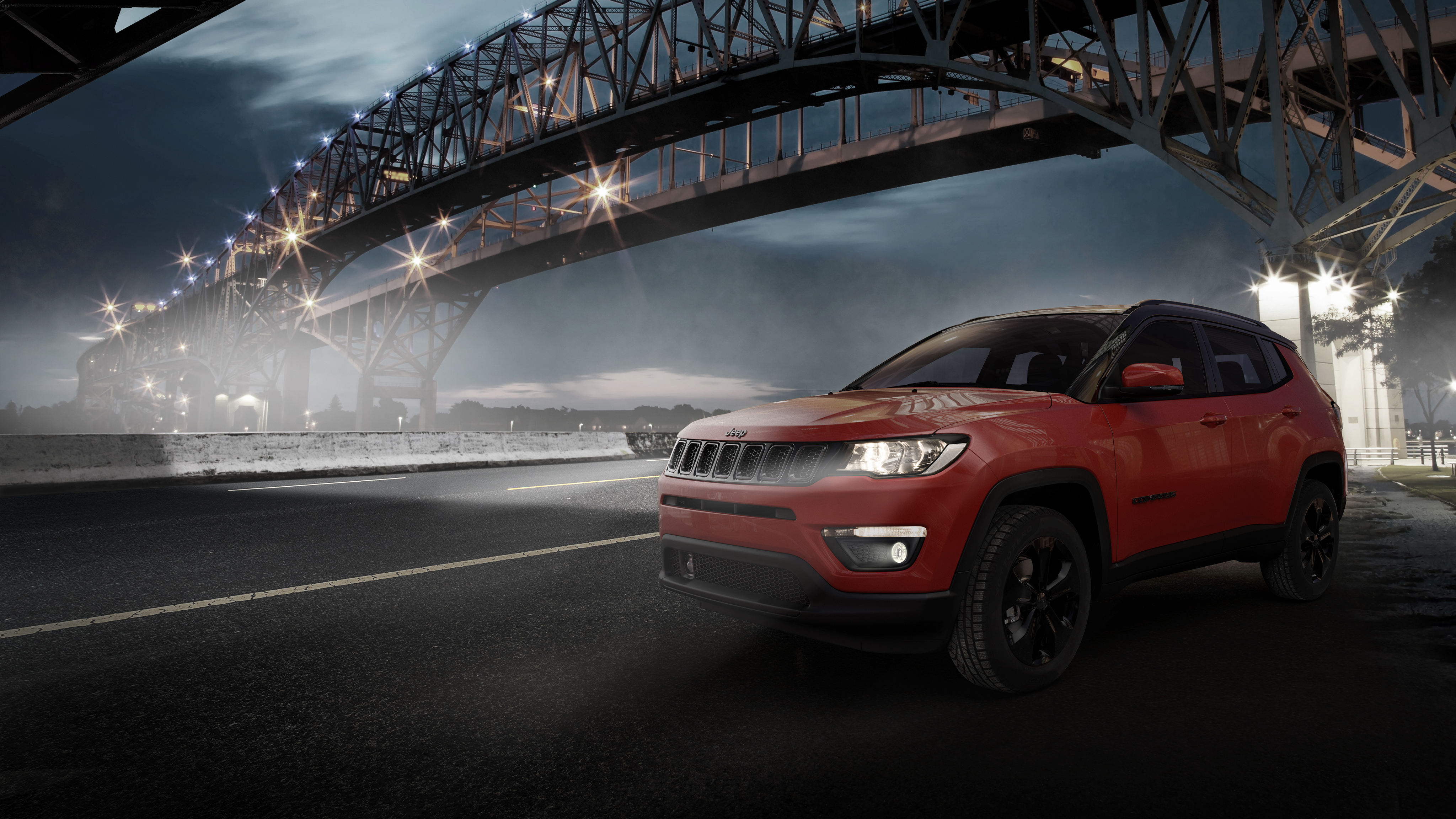 2018 Jeep Compass Night Eagle 4K Wallpaper