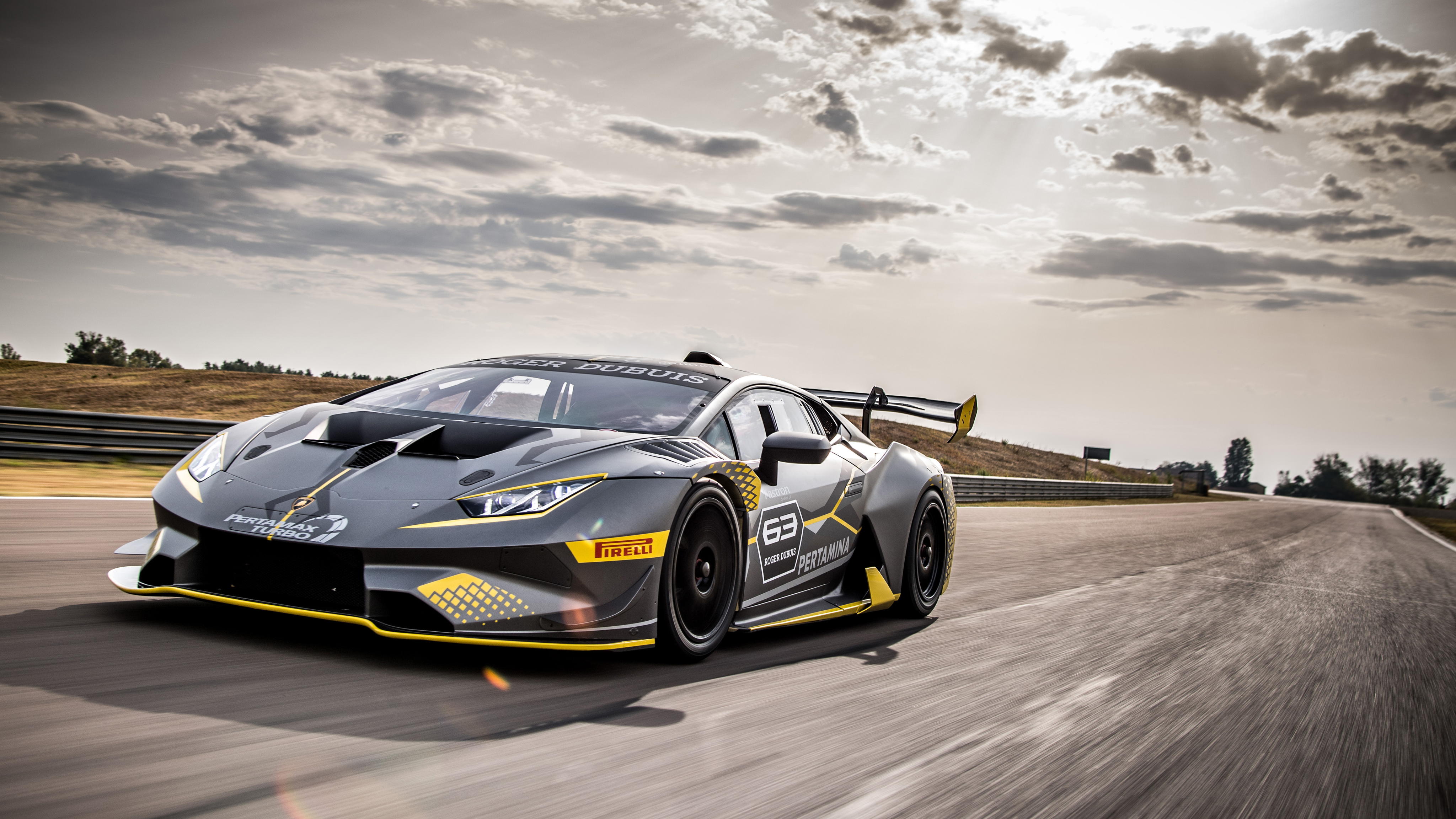 2018 Lamborghini Huracan Super Trofeo Evo 4k Wallpaper Hd Car