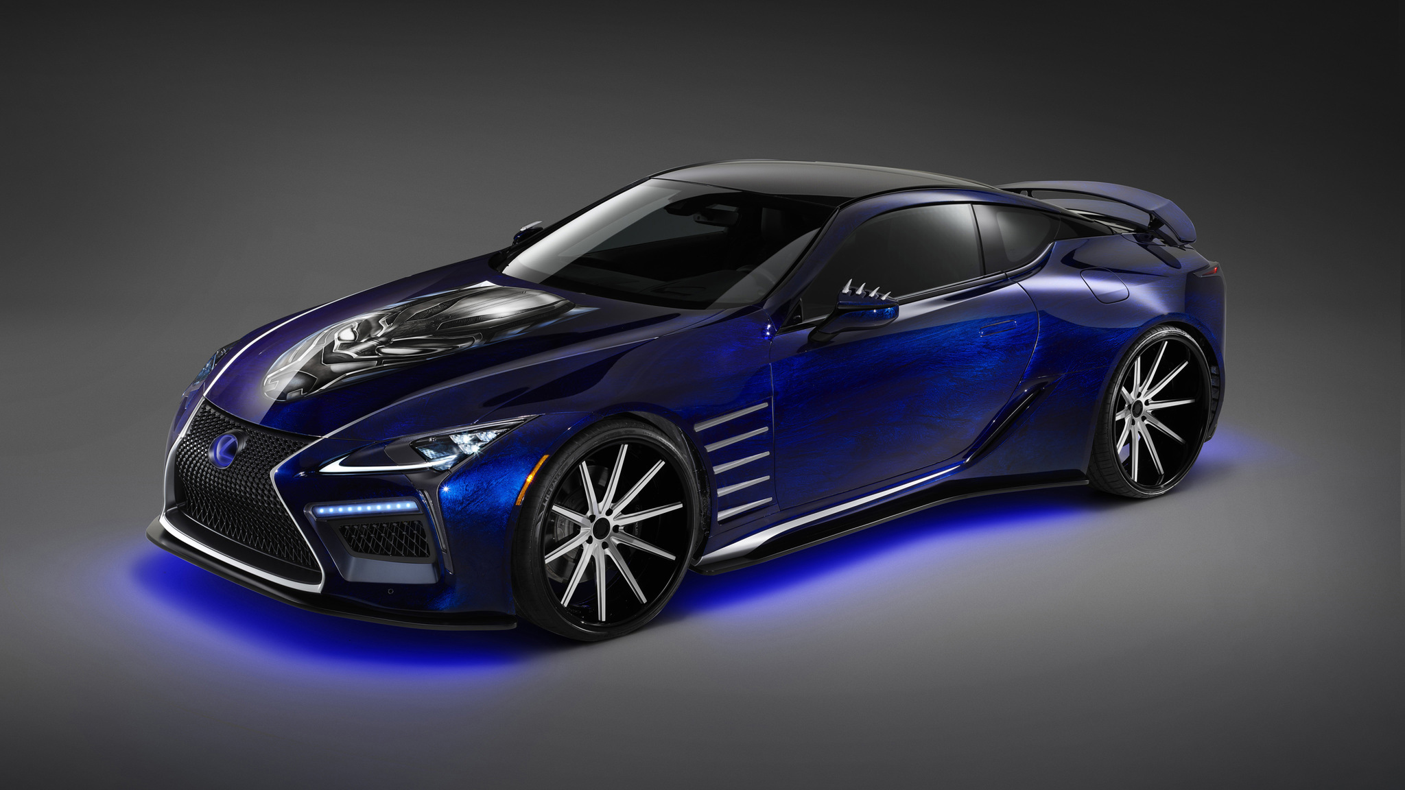2018 Best Car Wallpapers: 2018 Lexus LC Black Panther Special Edition Wallpaper