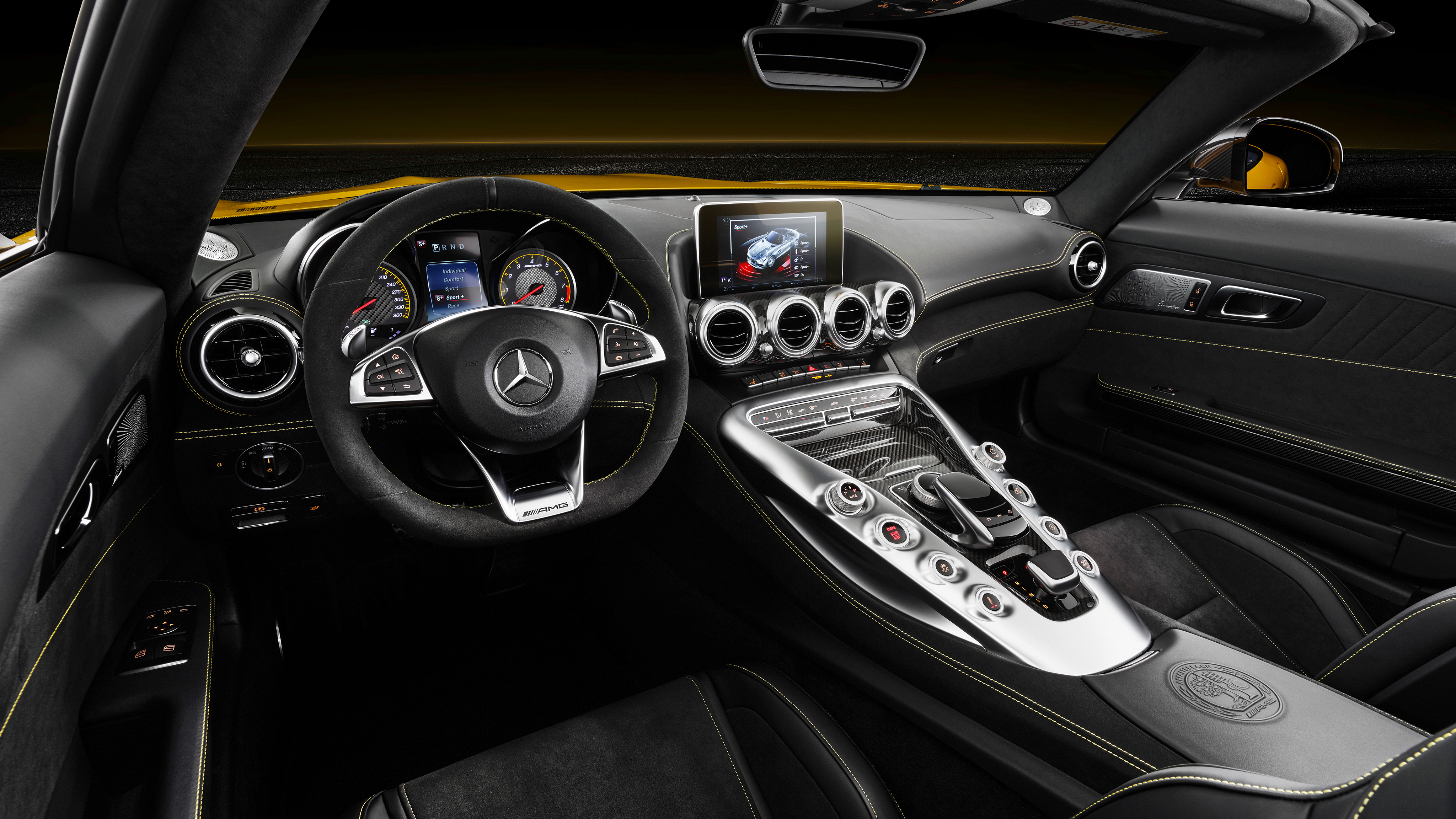 2018 Mercedes Amg Gt S Roadster 4k Interior Wallpaper Hd Car