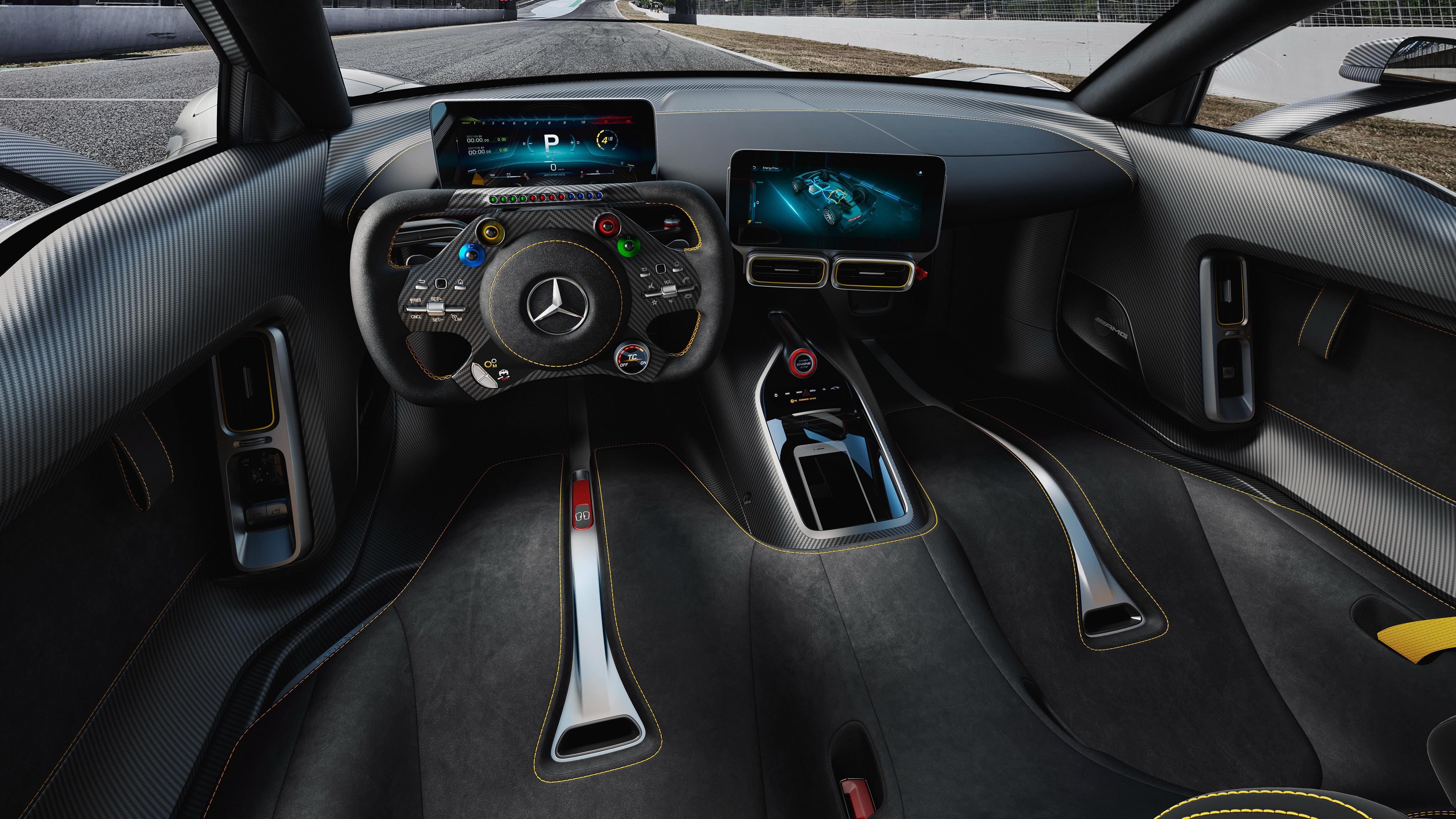 2018 Mercedes Amg Project One 4k Interior Wallpaper Hd Car