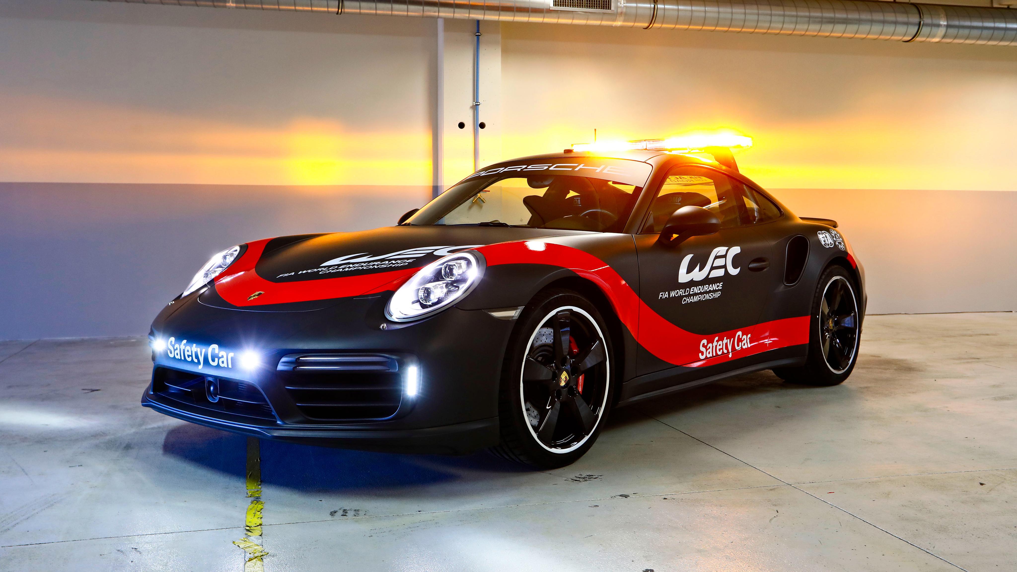 2018 Porsche 911 Turbo WEC Safety Car 4K Wallpaper