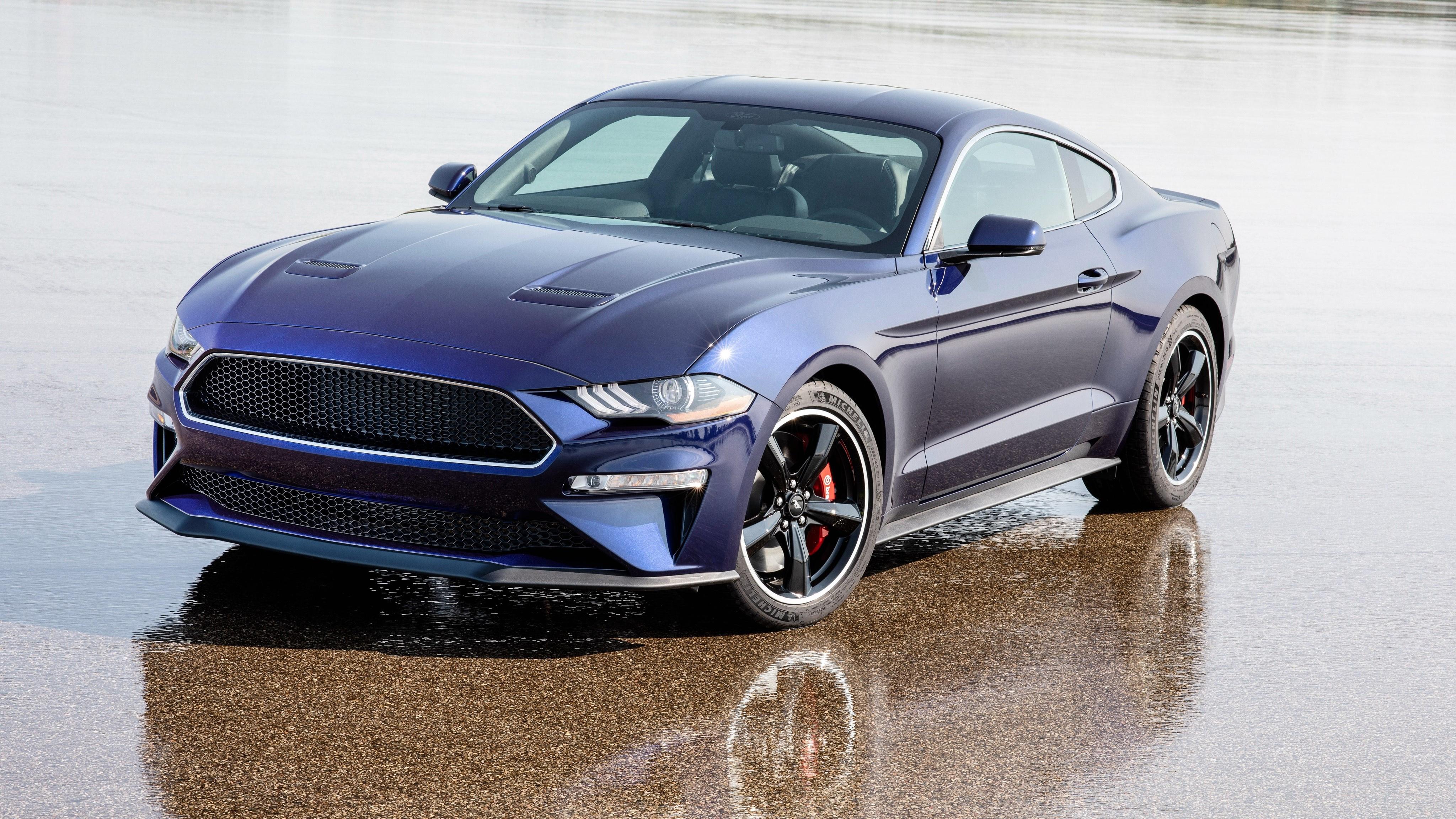2019 Ford Mustang Bullitt Kona Blue 4K Wallpaper | HD Car Wallpapers | ID #11032