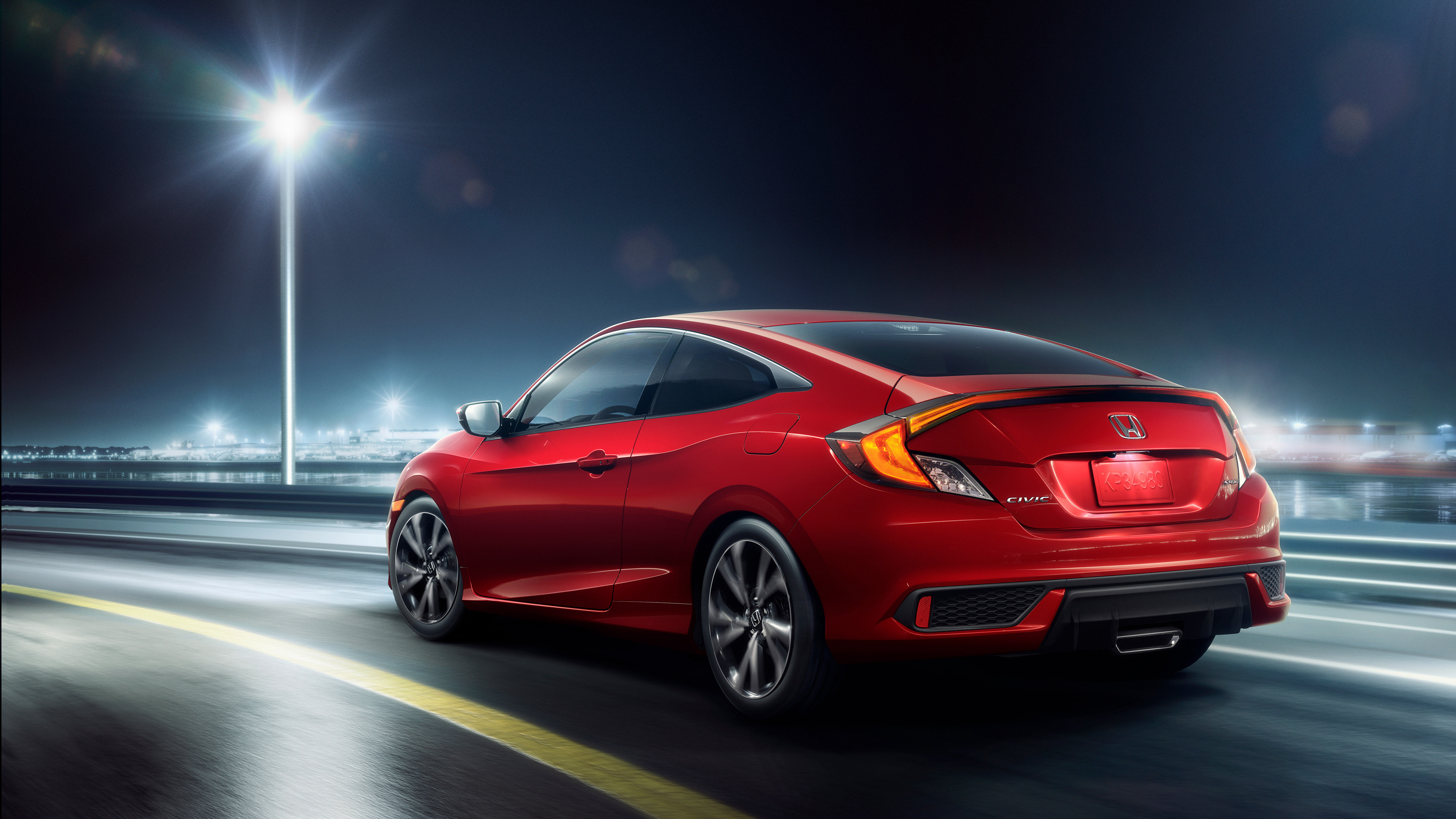 2019 Honda Civic Coupe Sport 4k 2 Wallpaper Hd Car